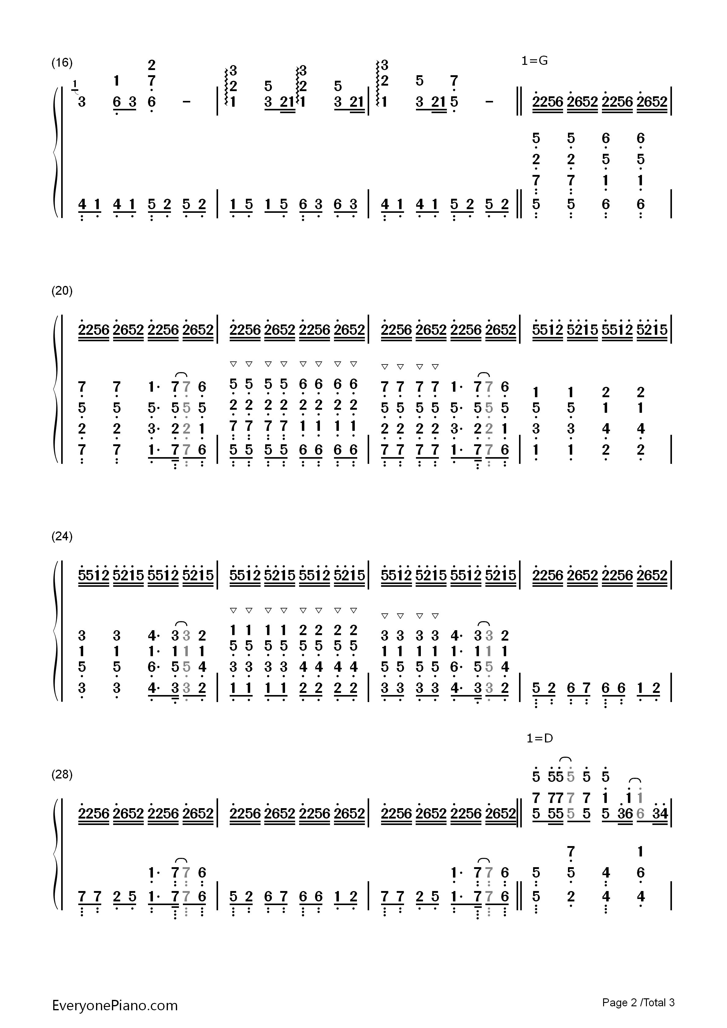菊次郎的夏天-summer双手简谱预览2-钢琴谱(五线谱,)