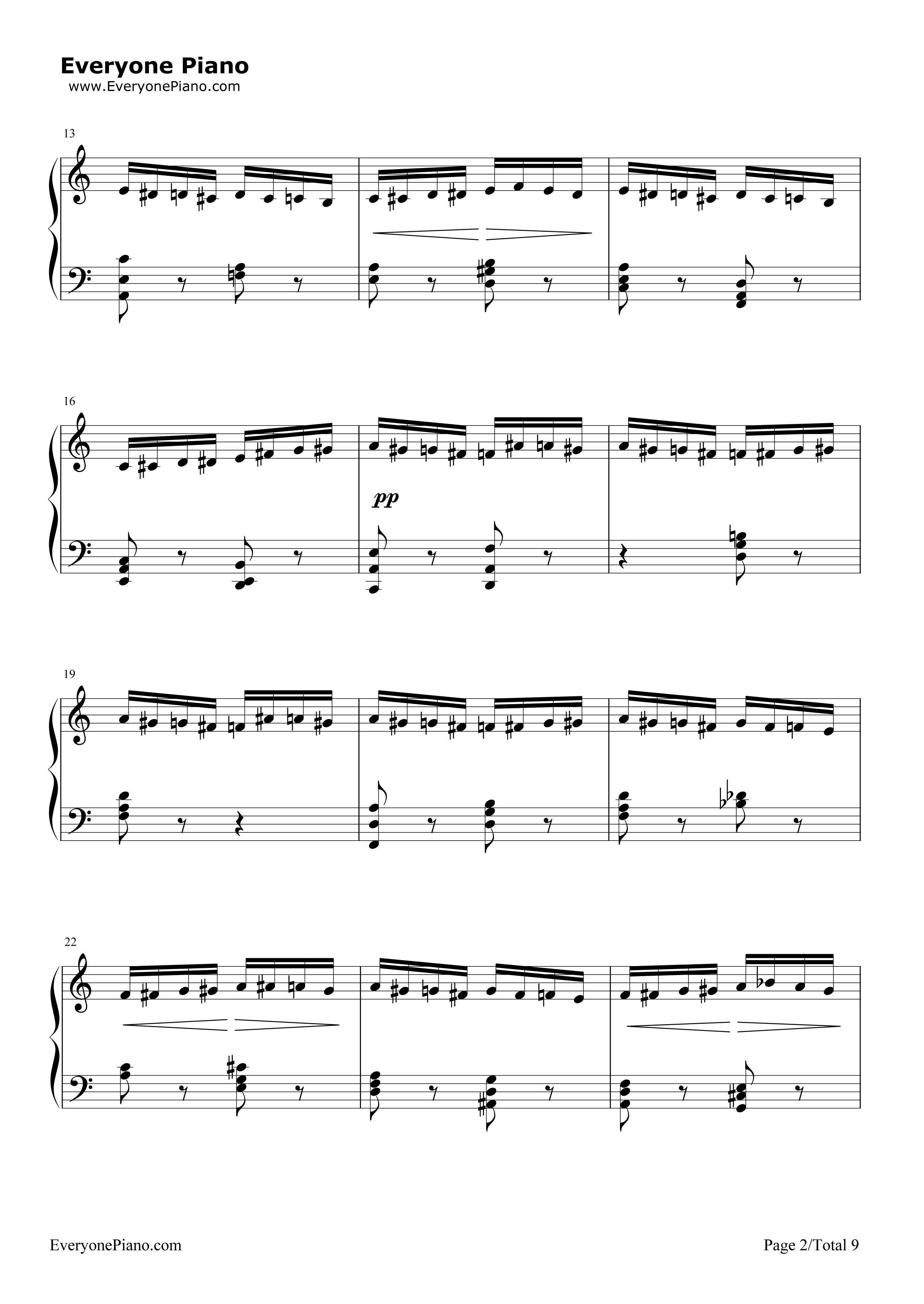 钢琴曲谱 经典 野蜂飞舞-马克西姆-flight of the bumble bee 野蜂