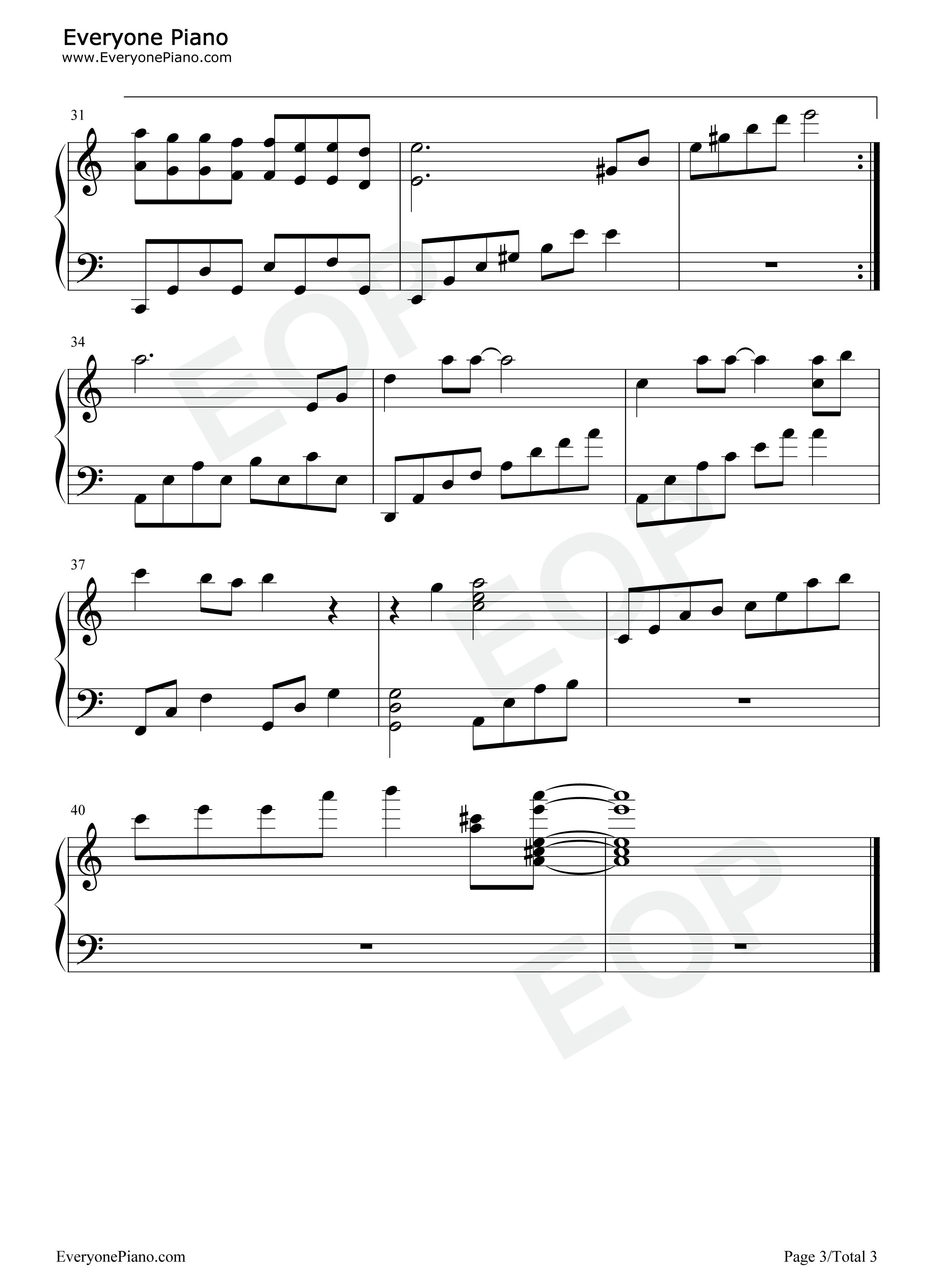 蝶恋-仙剑五线谱预览3