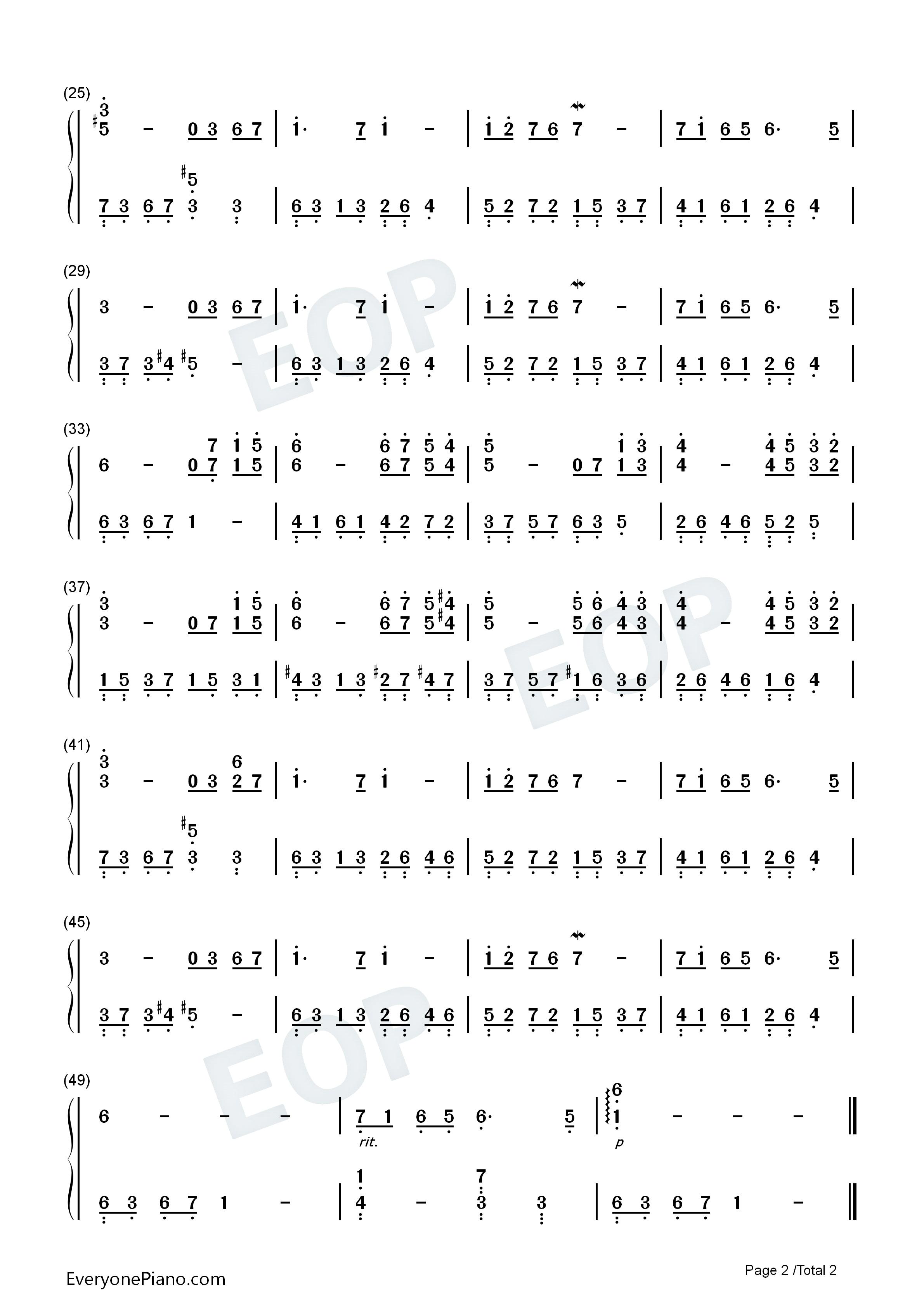 钢琴曲谱 轻音乐 神秘花园-songs from a secret garden 神秘花园