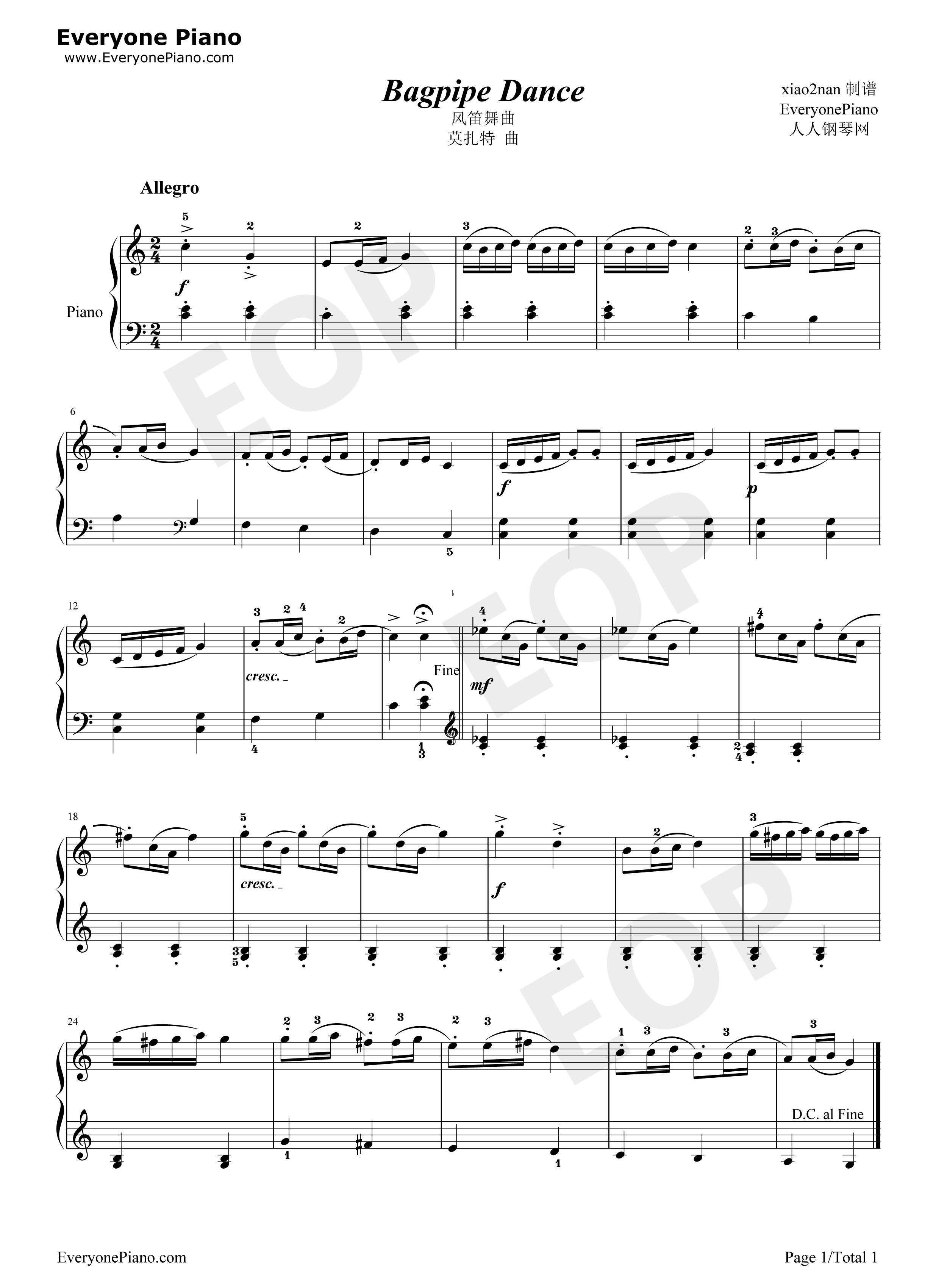 Bagpipe dance 1 midi pdf for Piano dance music 90 s