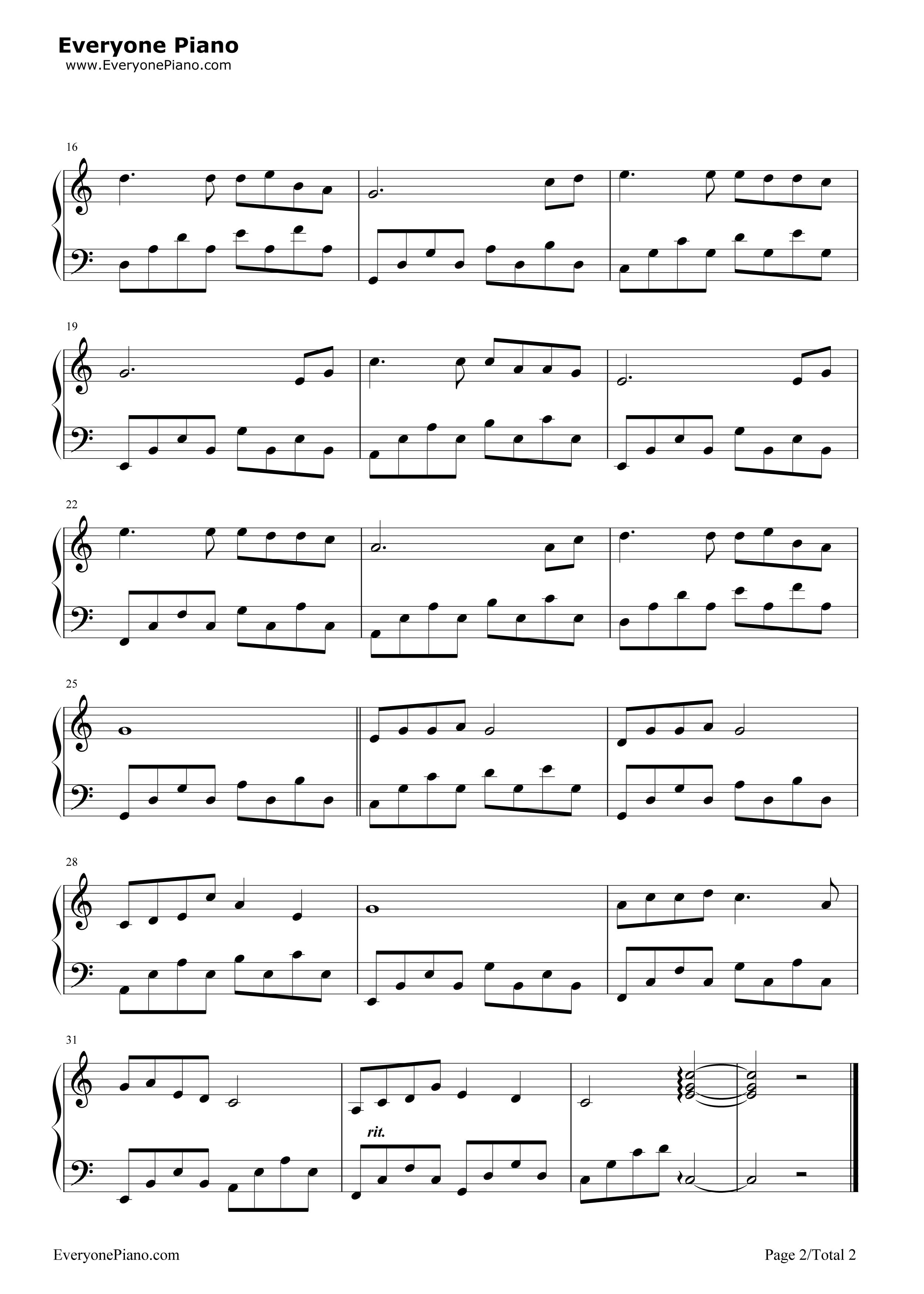 女人花-梅艳芳五线谱预览2-钢琴谱