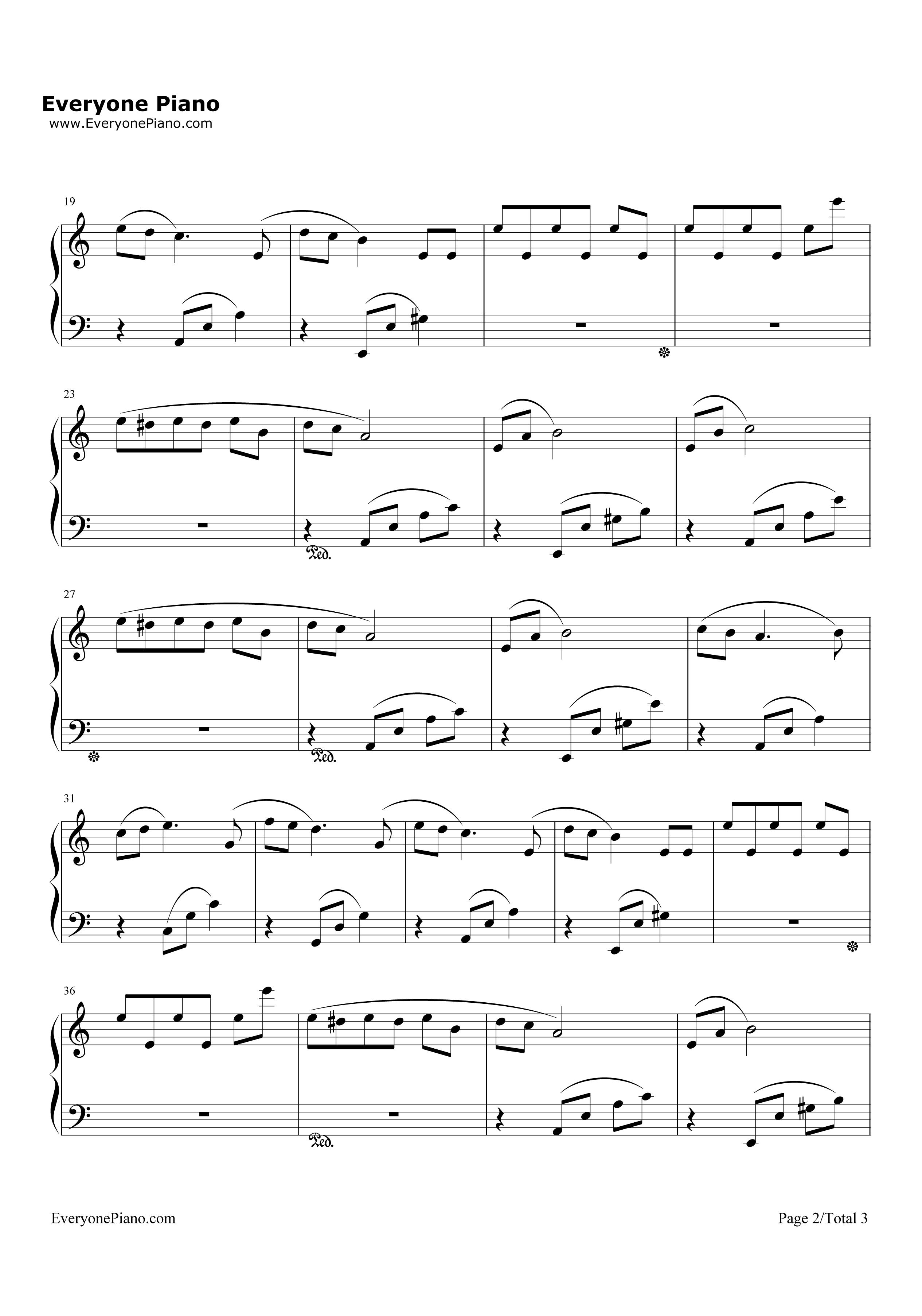 钢琴曲谱 轻音乐 献给爱丽丝-for elise-eop魔鬼训练营练习曲 献给