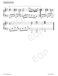 同一首歌-钢琴谱(五线谱,双手简谱)免费下载图片