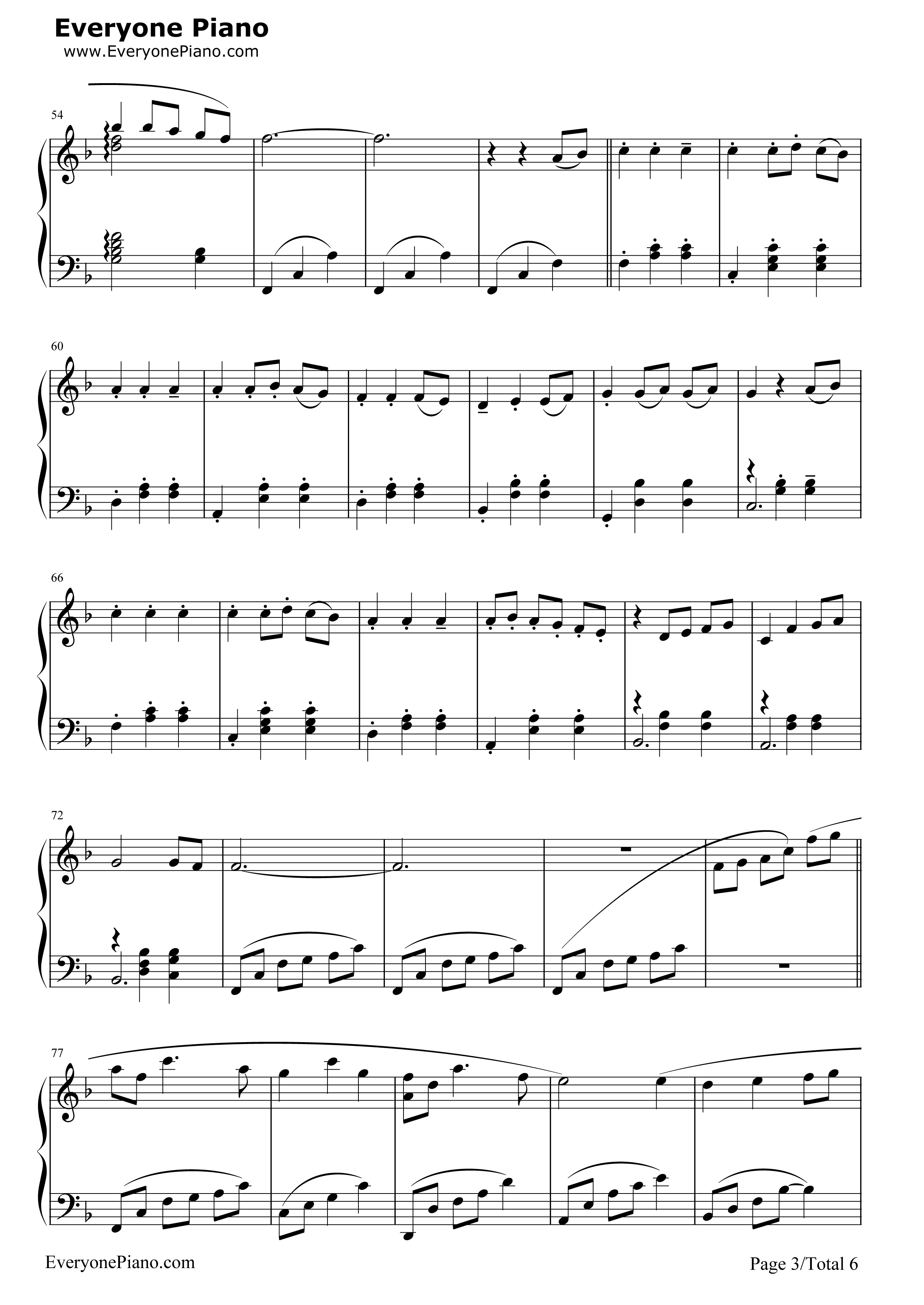 always with me五线谱预览3-钢琴谱
