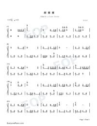 甜蜜蜜双手简谱预览1-钢琴谱(五线谱,双手简谱)免费图片