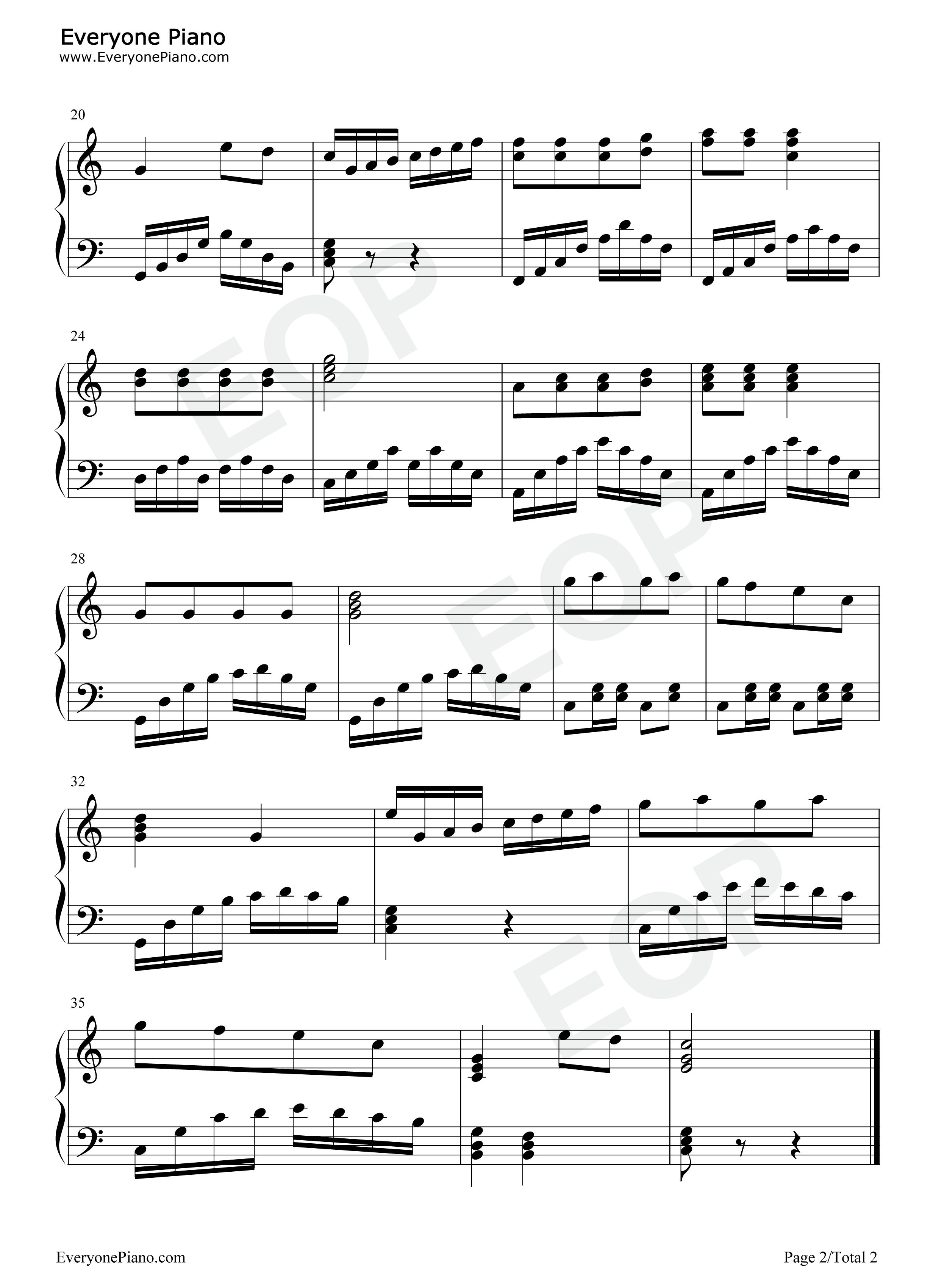 春天在哪裏五线谱预览2-钢琴谱档(五线谱,双手简谱,数