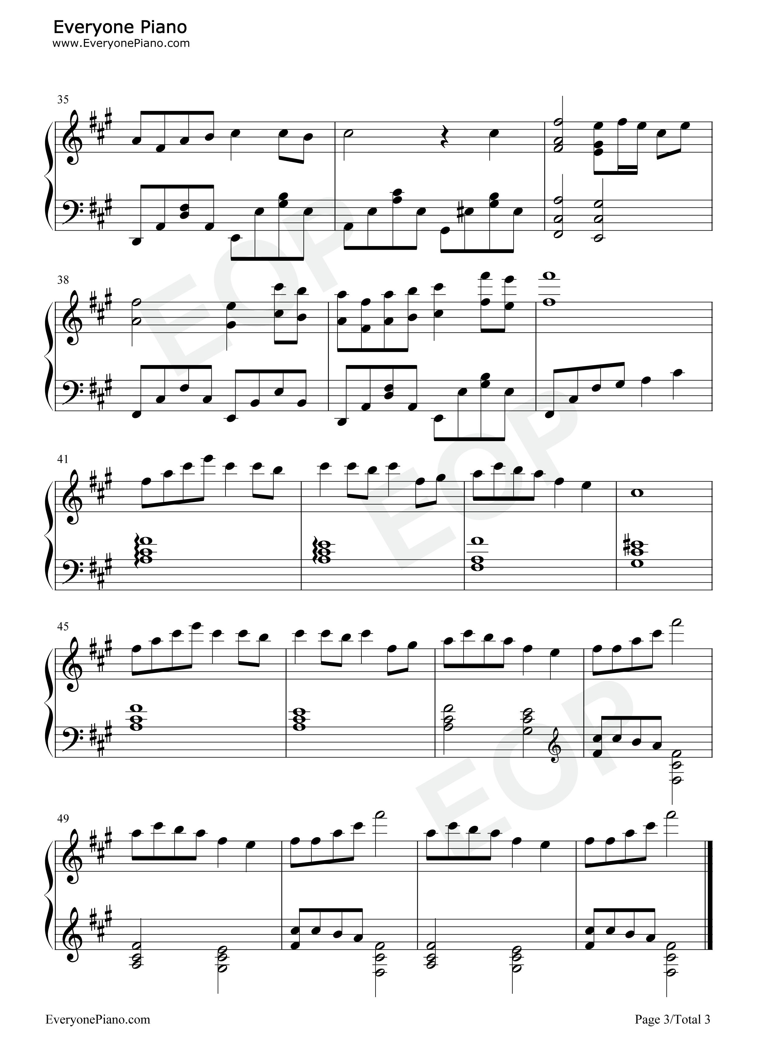森林狂想曲-forest rhapsody五线谱预览3-钢琴谱(