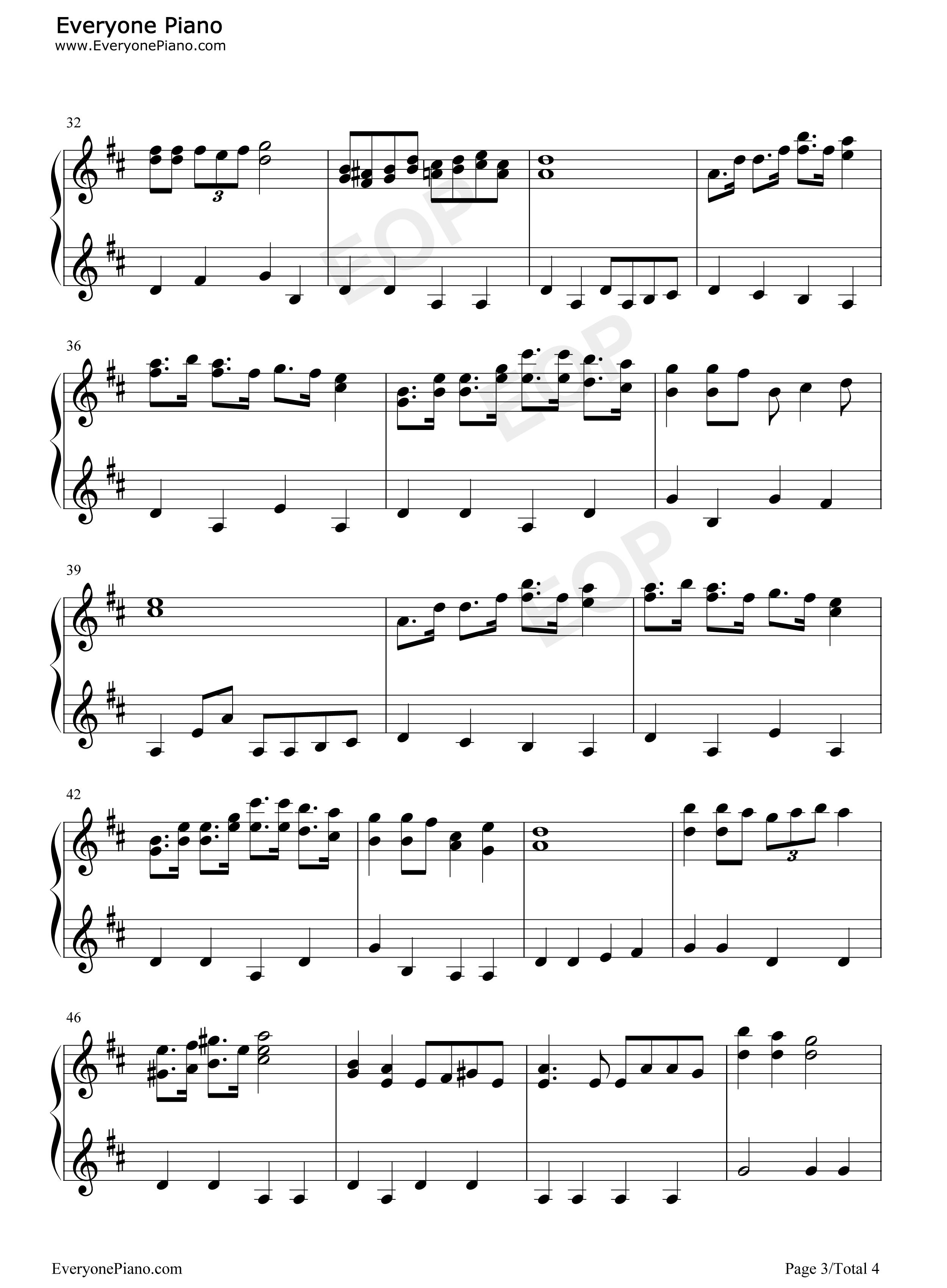 钢琴曲谱 动漫 哆啦a梦主题曲-哆啦a梦之歌-doraemon 哆啦a梦主题曲