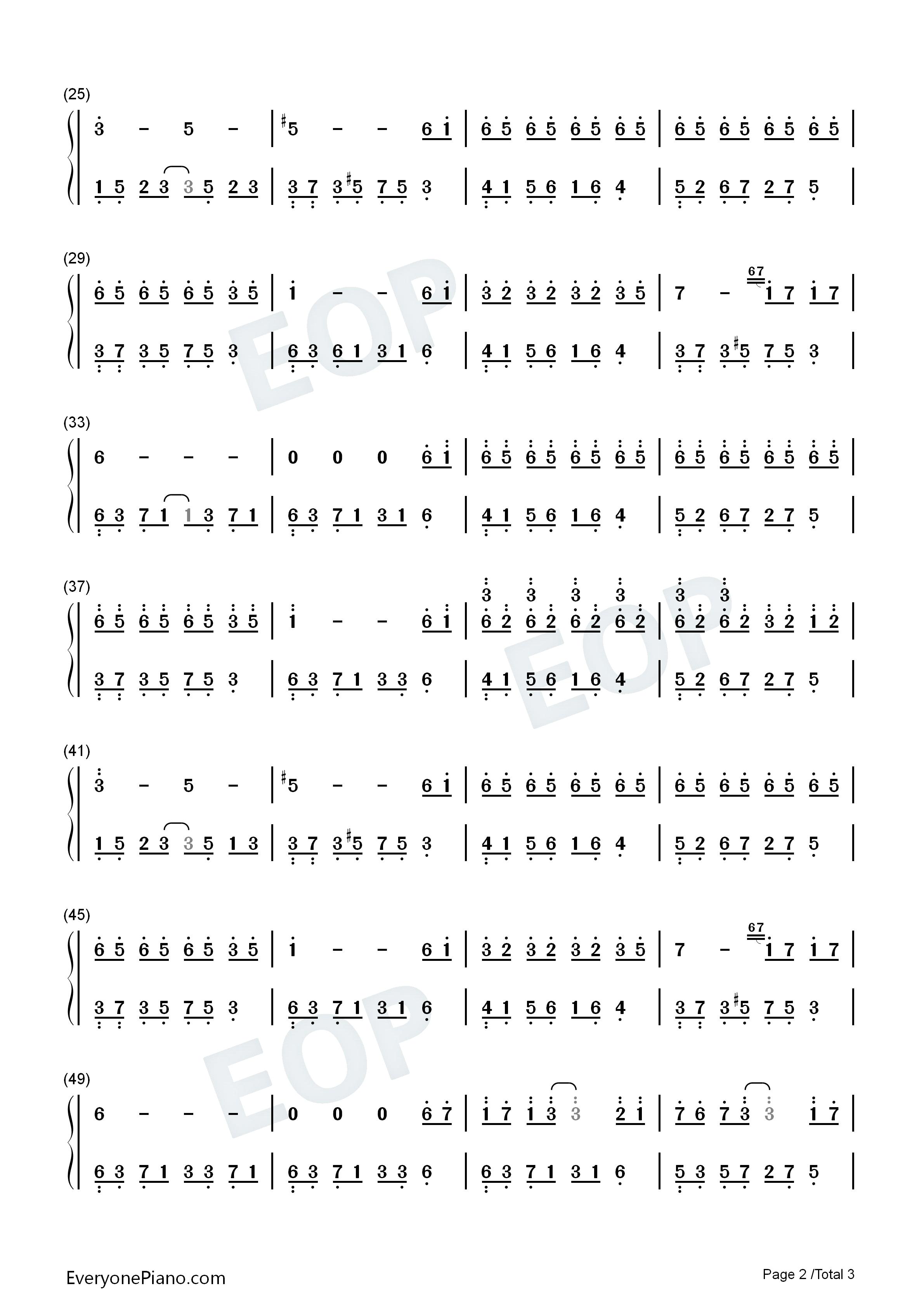 夜的钢琴曲 6双手简谱预览2
