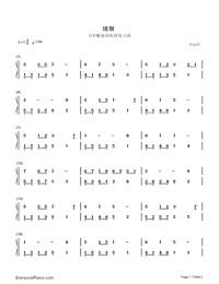 送别-钢琴谱(五线谱,双手简谱)免费下载图片