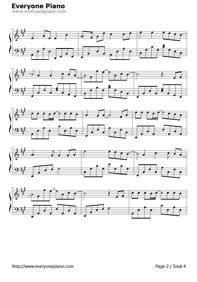 钢琴谱(五线谱,双手简谱)免费下载; 右手边吉他谱 天空之城吉他谱童年