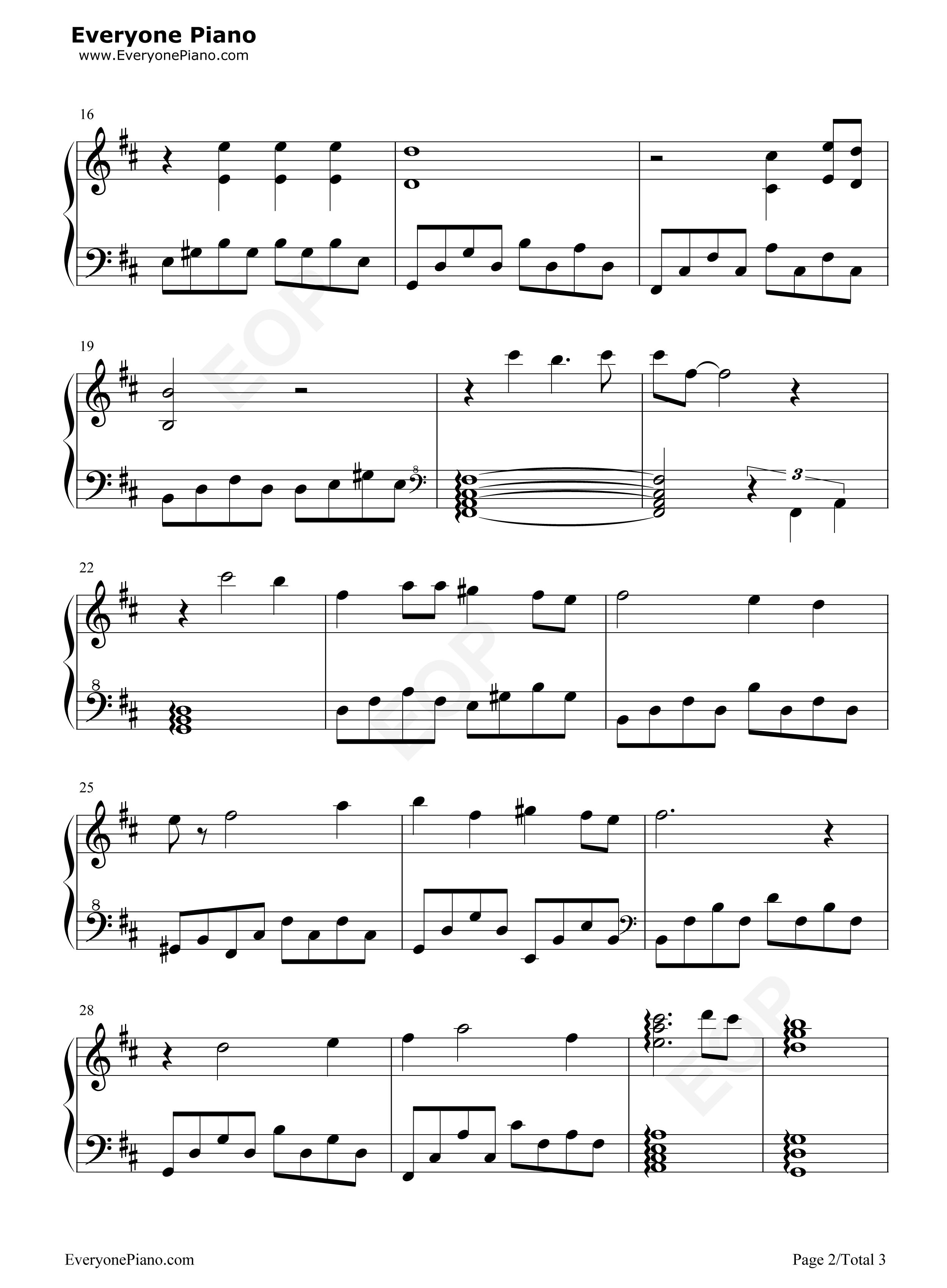 橄榄树五线谱预览2-钢琴谱(五线谱