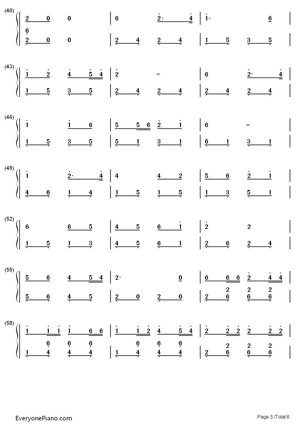 赛马双手简谱预览3-钢琴谱档(五线谱,双手简谱,数位谱