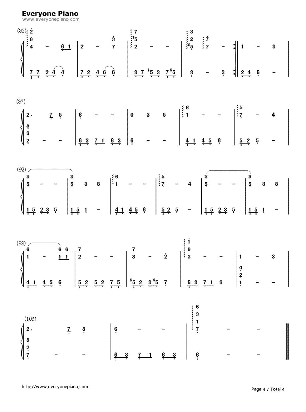 灰色空间-classic river双手简谱预览4图片