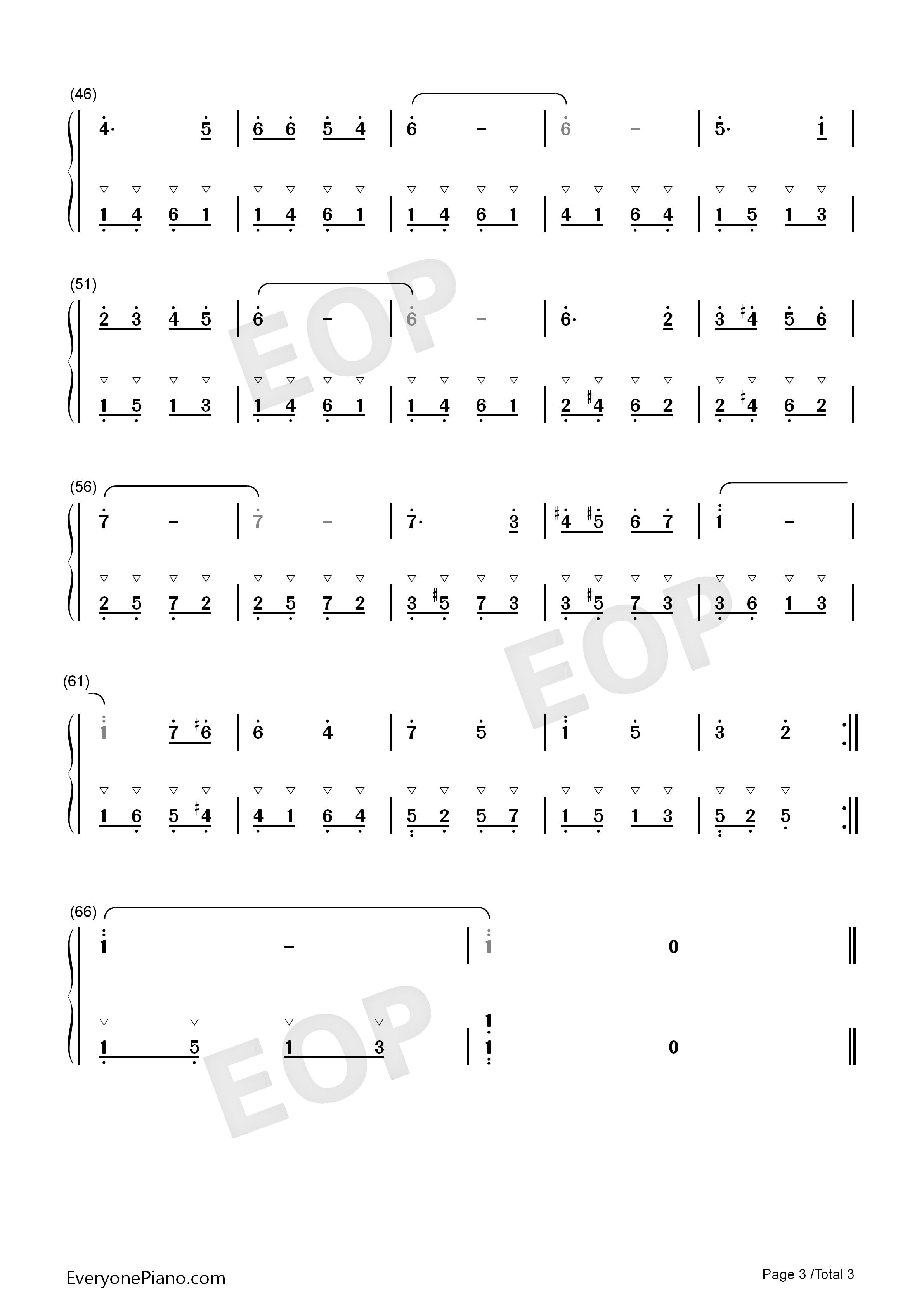 钢琴曲谱 儿歌 哆来咪-音乐之声插曲 哆来咪-音乐之声插曲双手简谱