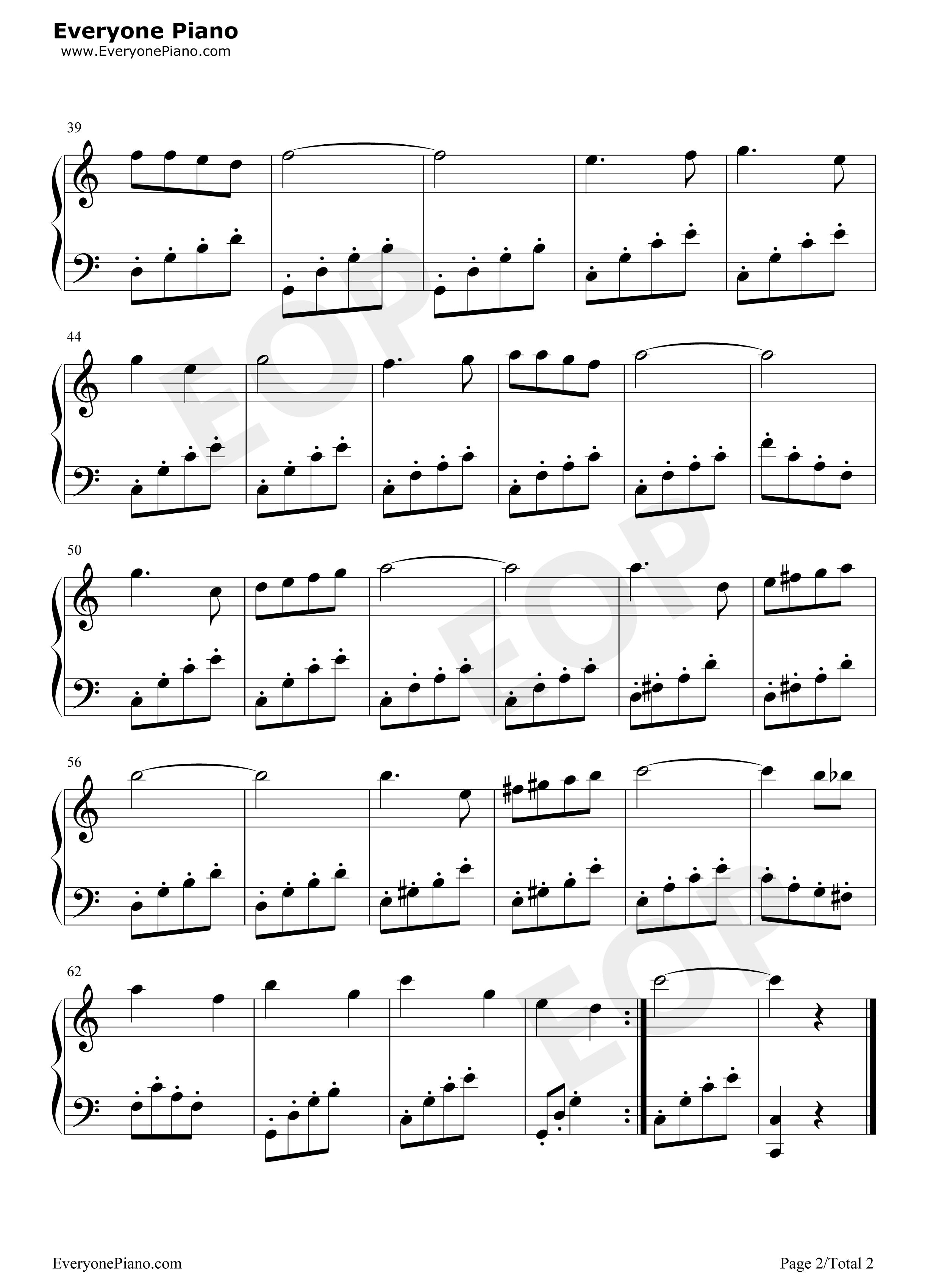 哆来咪-音乐之声插曲五线谱预览2
