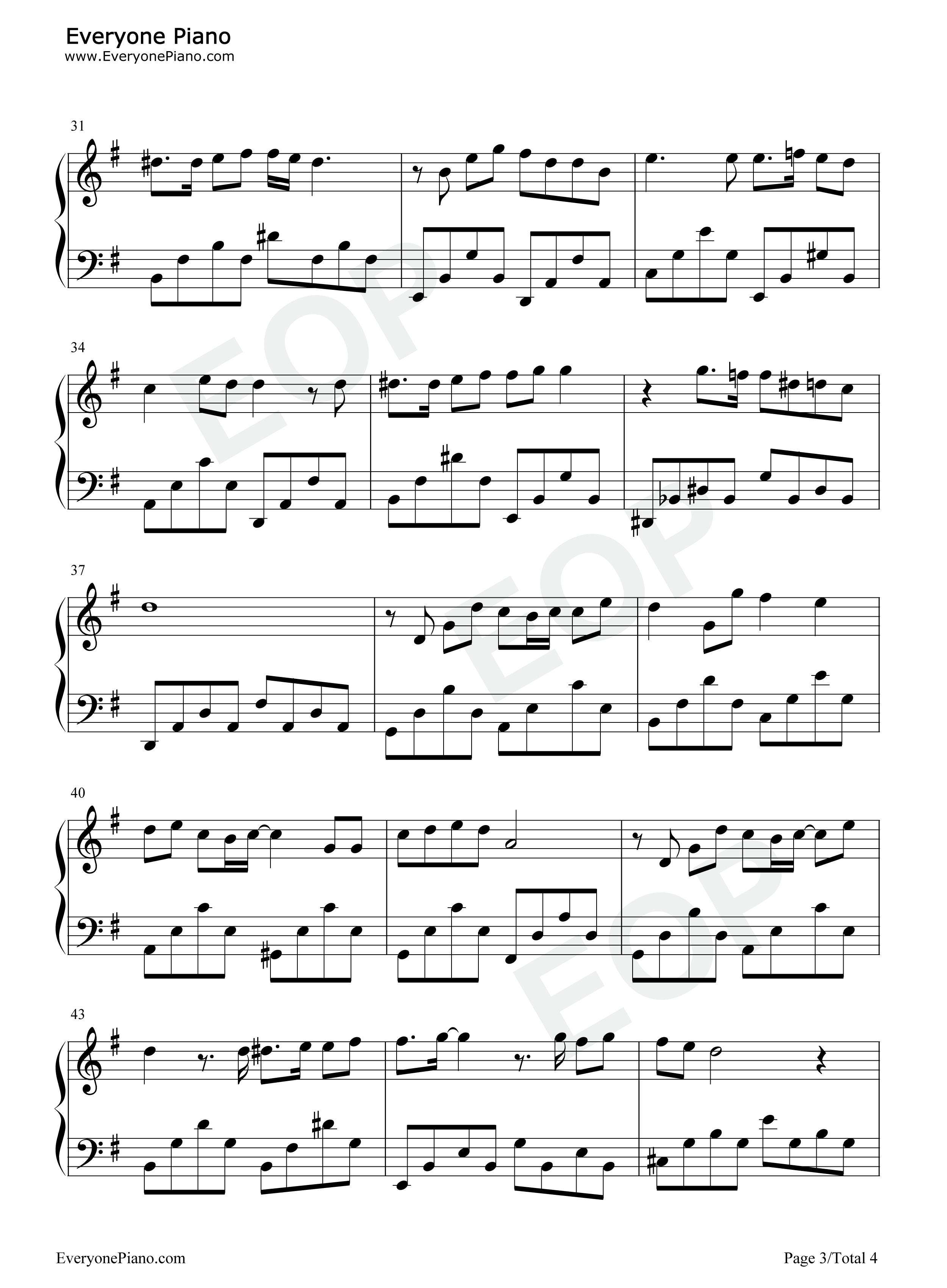 i believe-我相信五线谱预览3-钢琴谱(五线谱,双手)