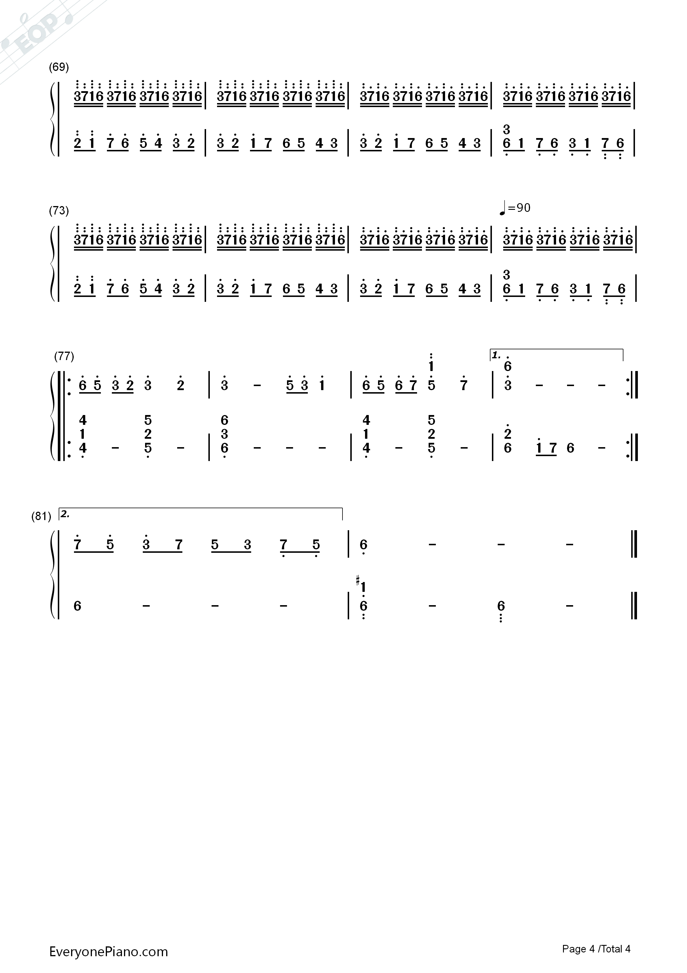 钢琴曲谱 轻音乐 情书-luv letter 情书-luv letter双手简谱预览4  }