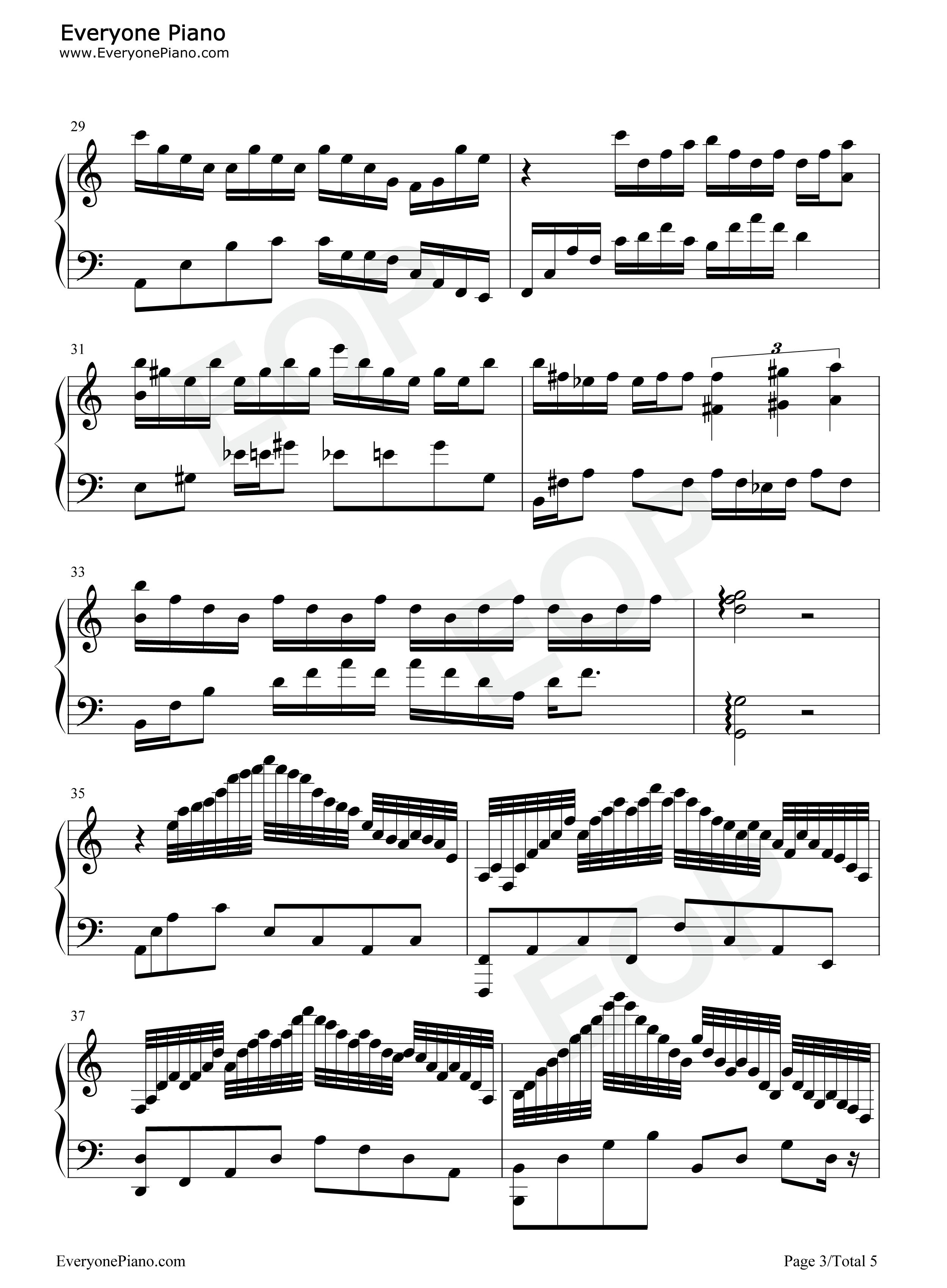 网站首页 钢琴曲谱 动漫 时光倒流-somewhere in time-时光倒流七十年