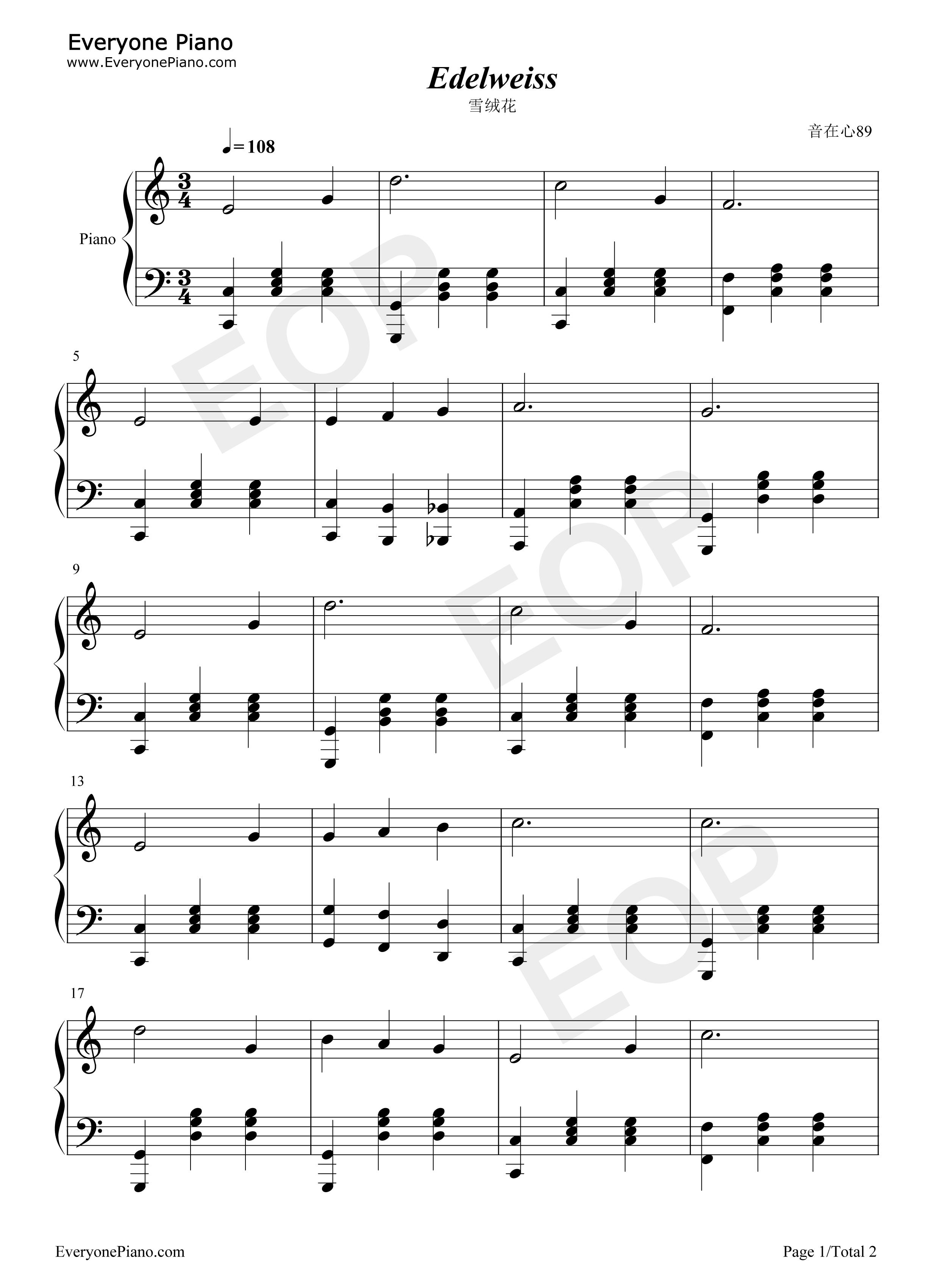 线谱预览1-钢琴谱