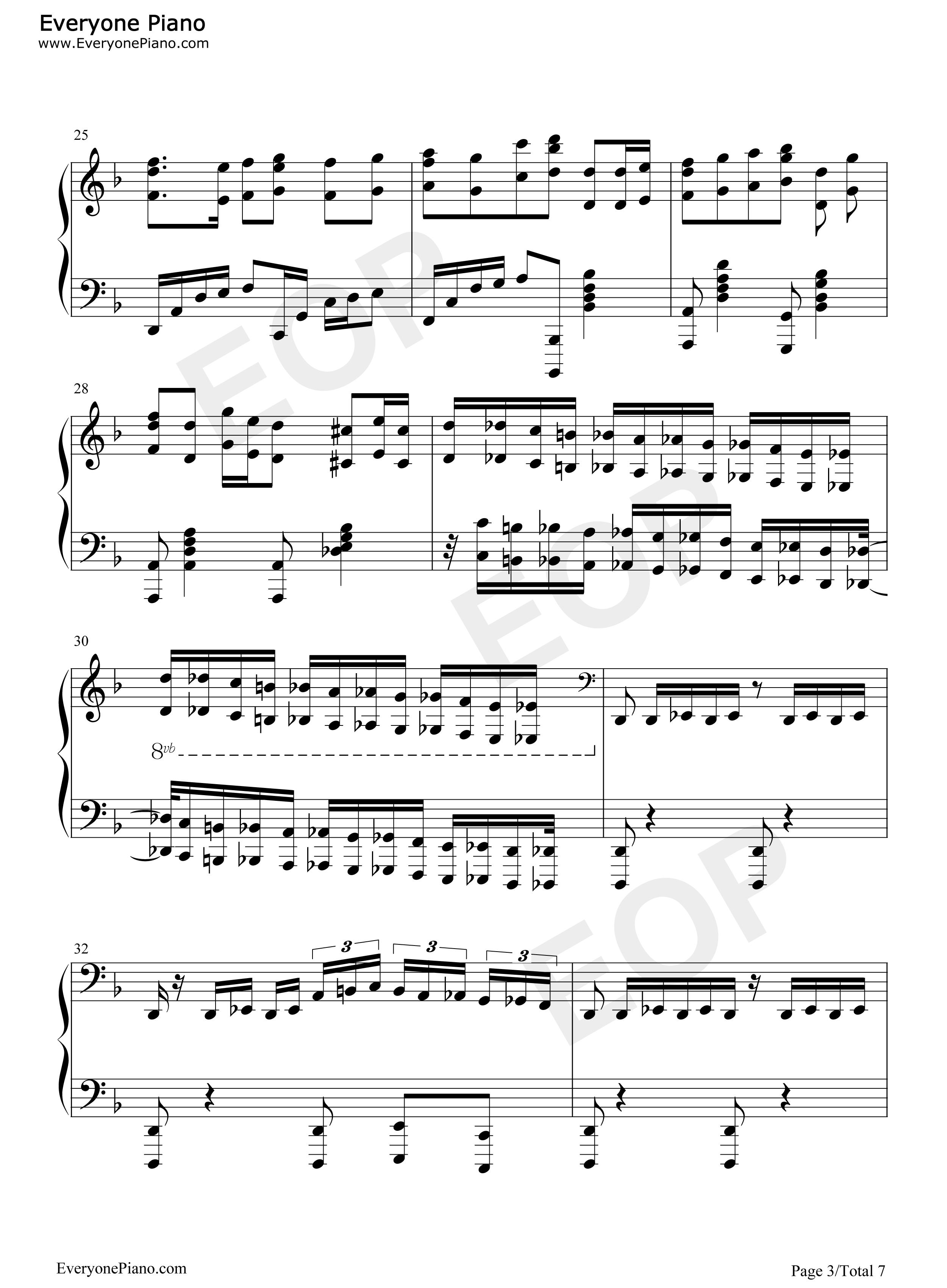 加勒比海盗主题曲谱图片大全 钢琴曲谱 加勒比海盗主题