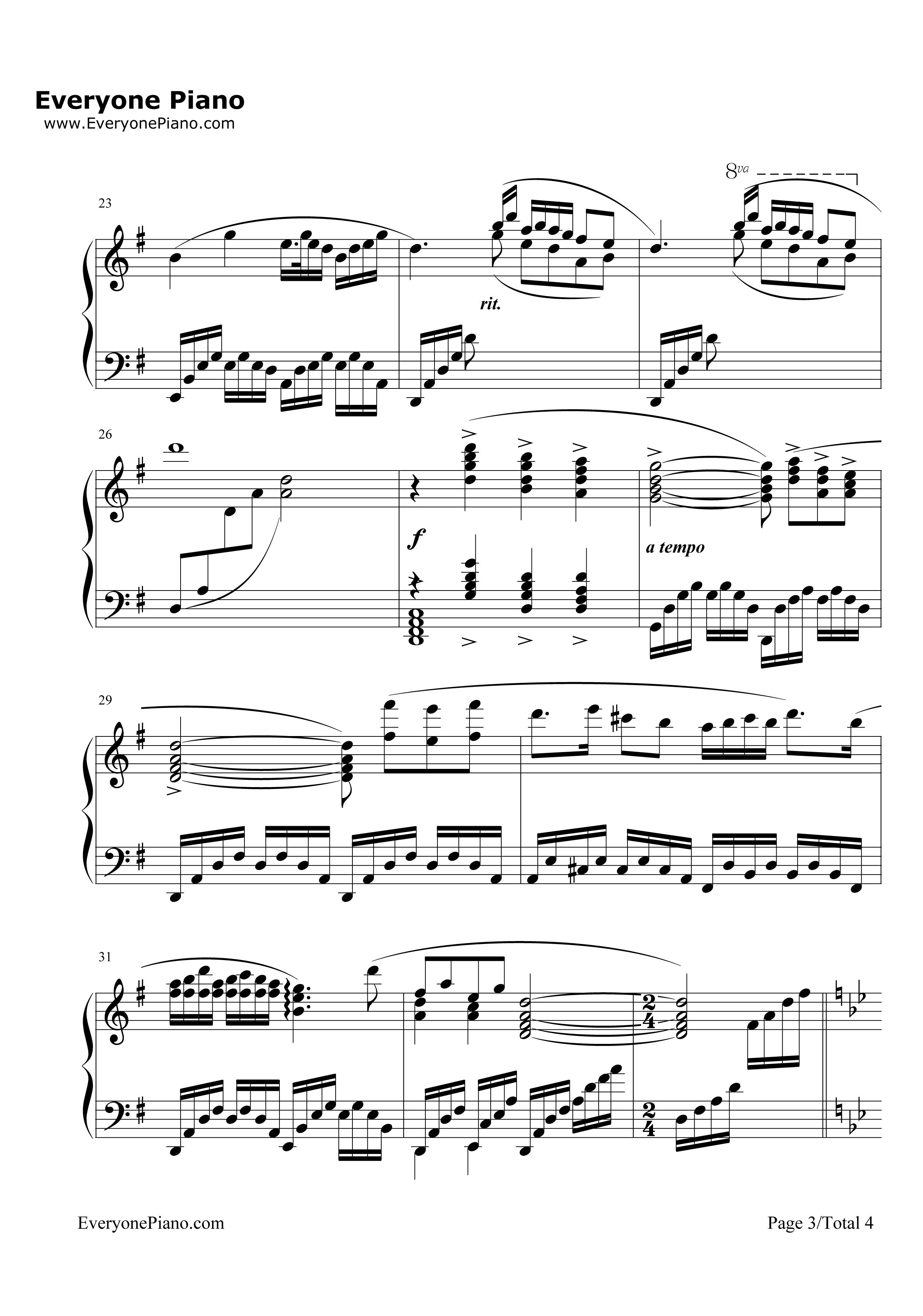 梁祝电子琴双手简谱
