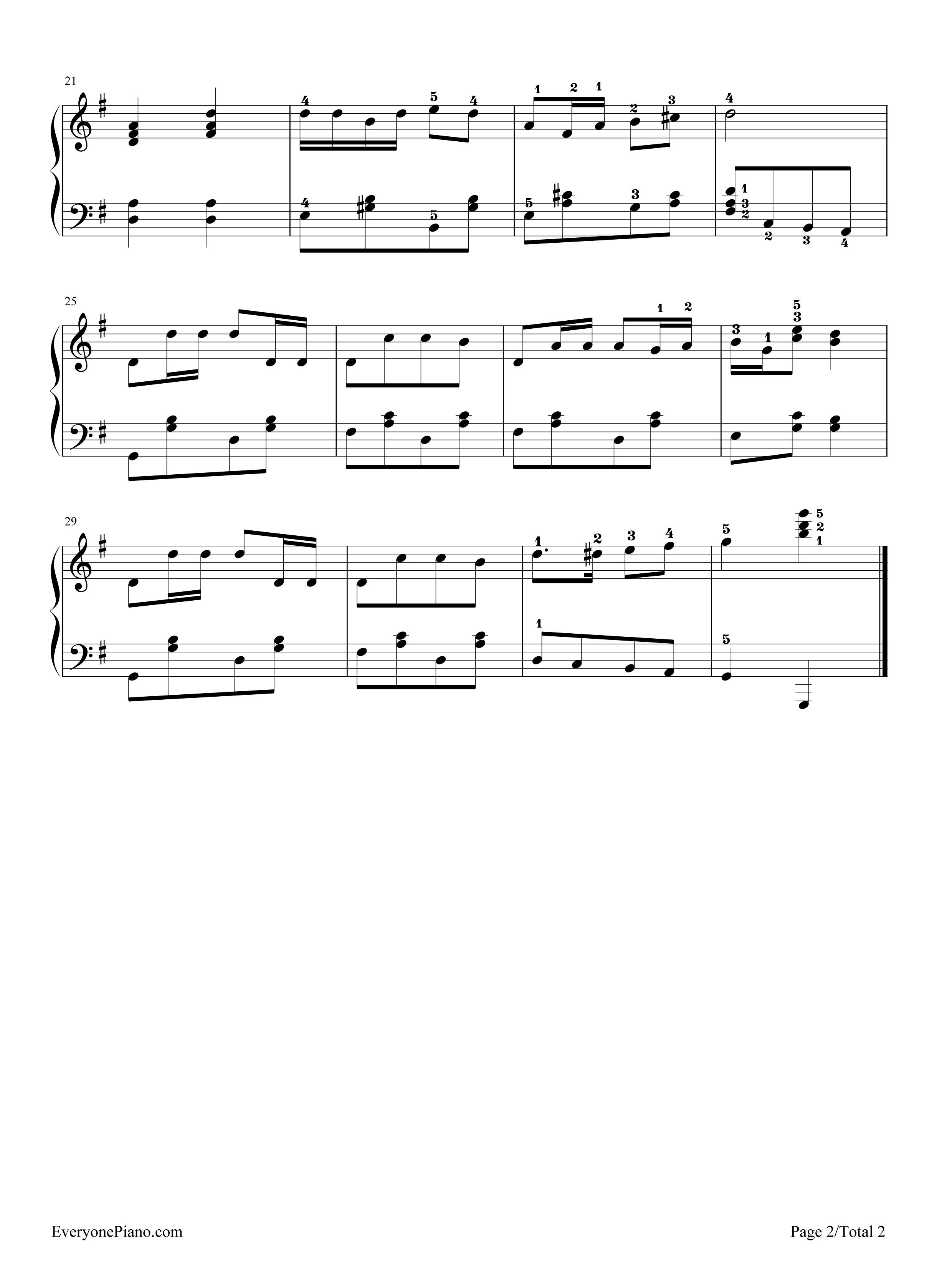 网站首页 钢琴曲谱 轻音乐 孤独的牧羊人 >> 孤独的牧羊人五线谱预览2