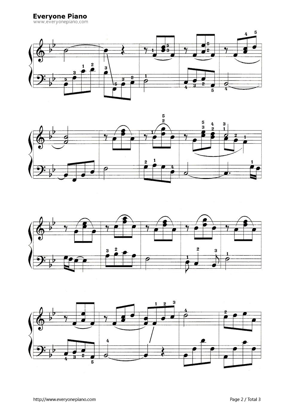 钢琴曲谱 练习曲 当孩子出生时 当孩子出生时五线谱预览2  }  仅供