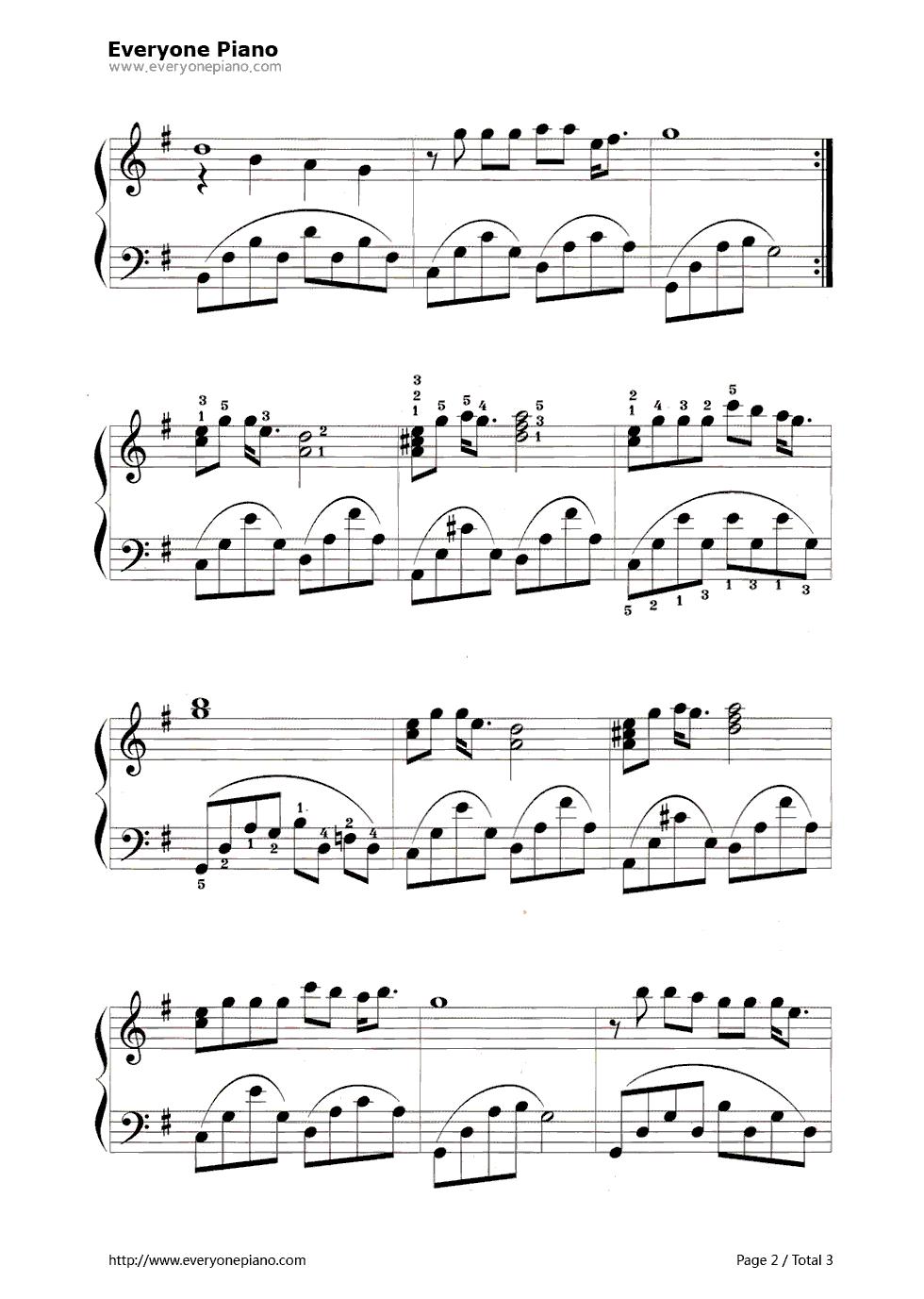 让世界充满爱五线谱预览2-钢琴谱档(五线谱,双手简谱