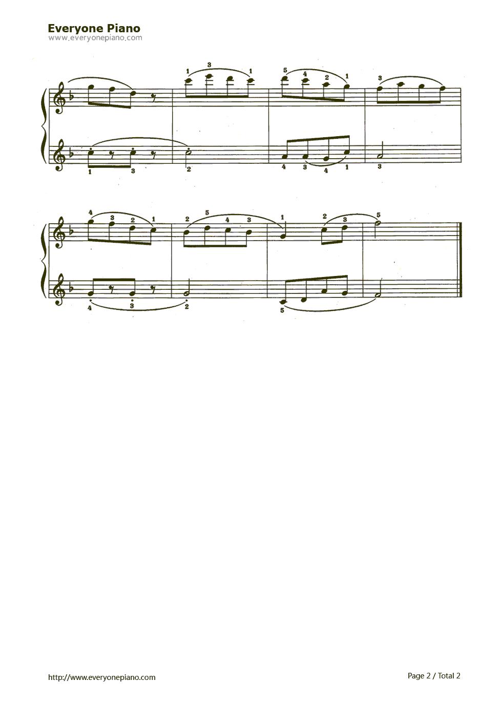 打电话钢琴简谱; 打电话五线谱预览2-钢琴谱(五线谱,双手简谱)免费