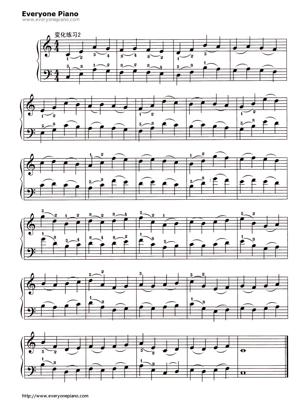 五线谱预览3 钢琴谱 五线谱,双手简谱