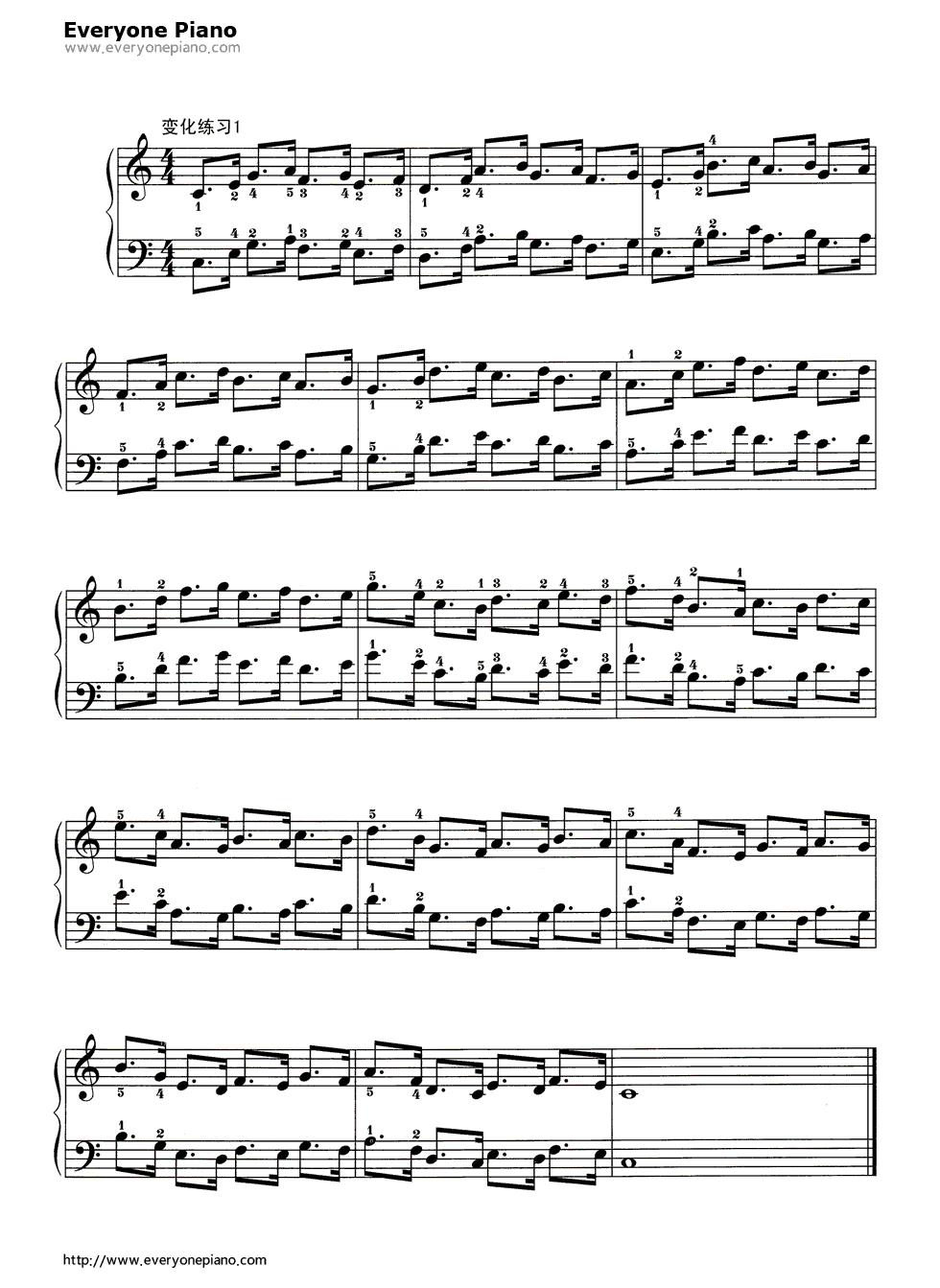 哈农基本练习8五线谱预览2-钢琴谱
