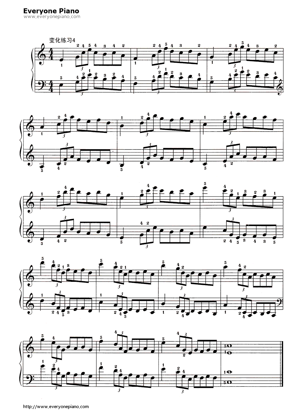 哈农基本练习20五线谱预览5-钢琴谱
