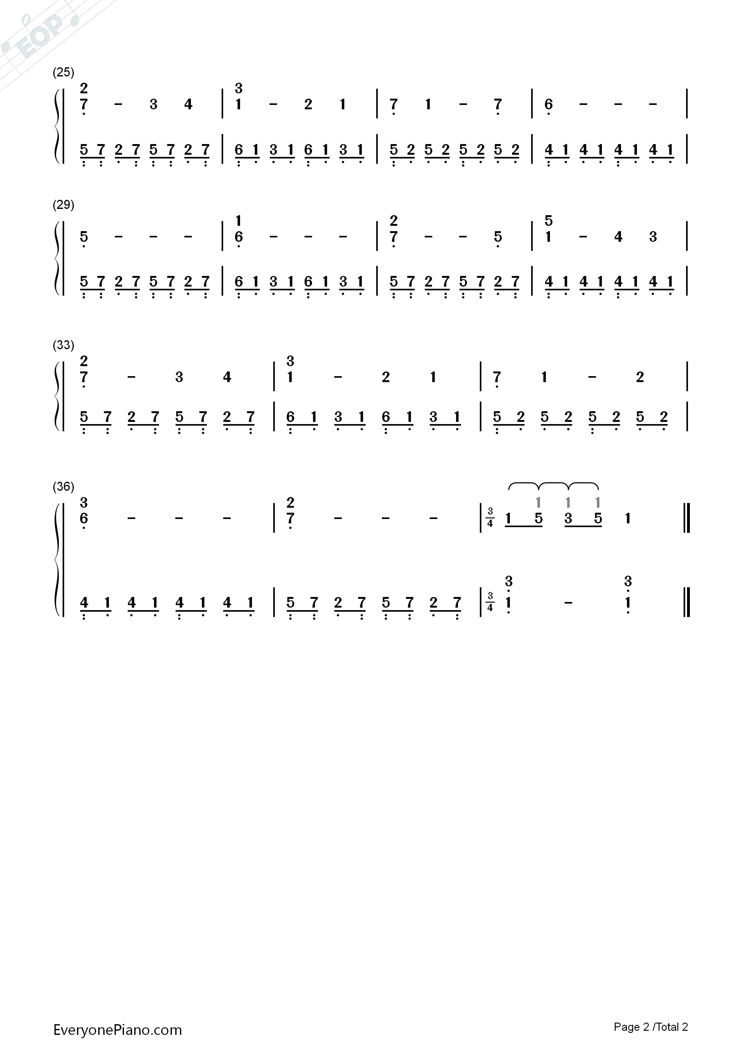 我心永恒 泰坦尼克号主题曲 简谱图片
