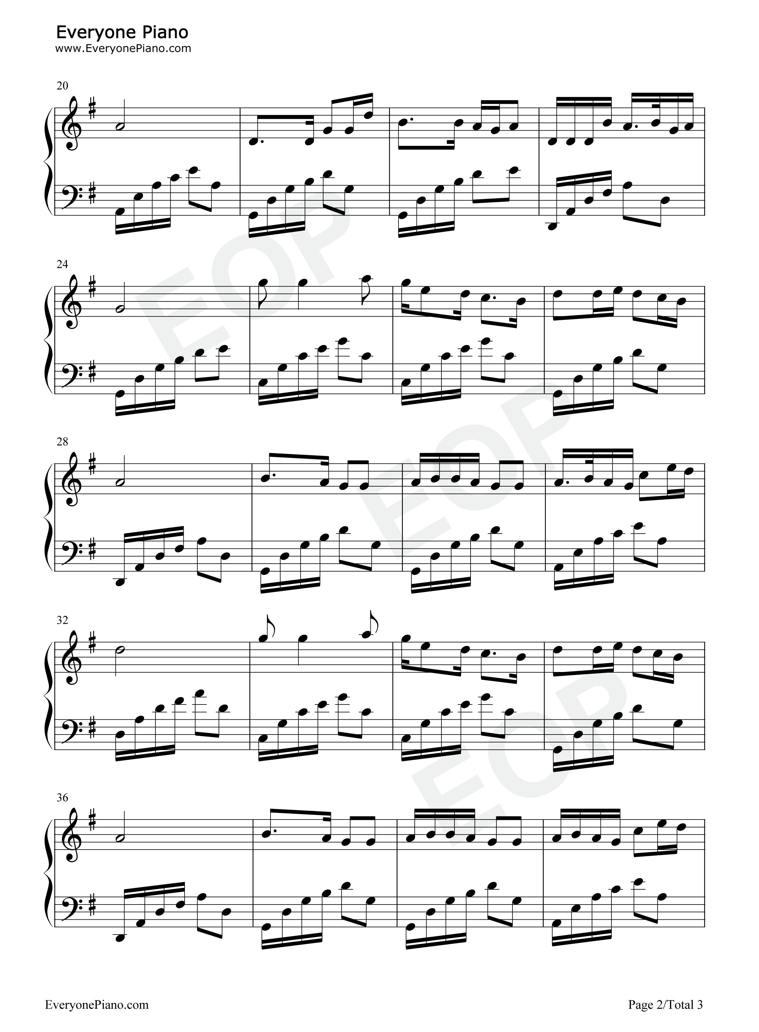 党啊亲爱的妈妈五线谱预览2-钢琴谱(五线谱,双手简谱)