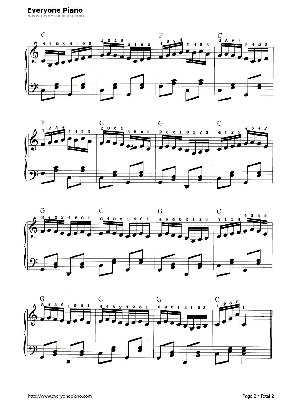 小酸梅果五线谱预览2-钢琴谱档(五线谱,双手简谱,数位