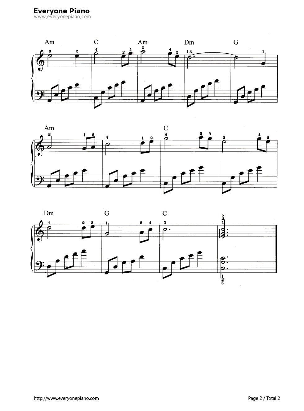 初恋的地方五线谱预览2-钢琴谱
