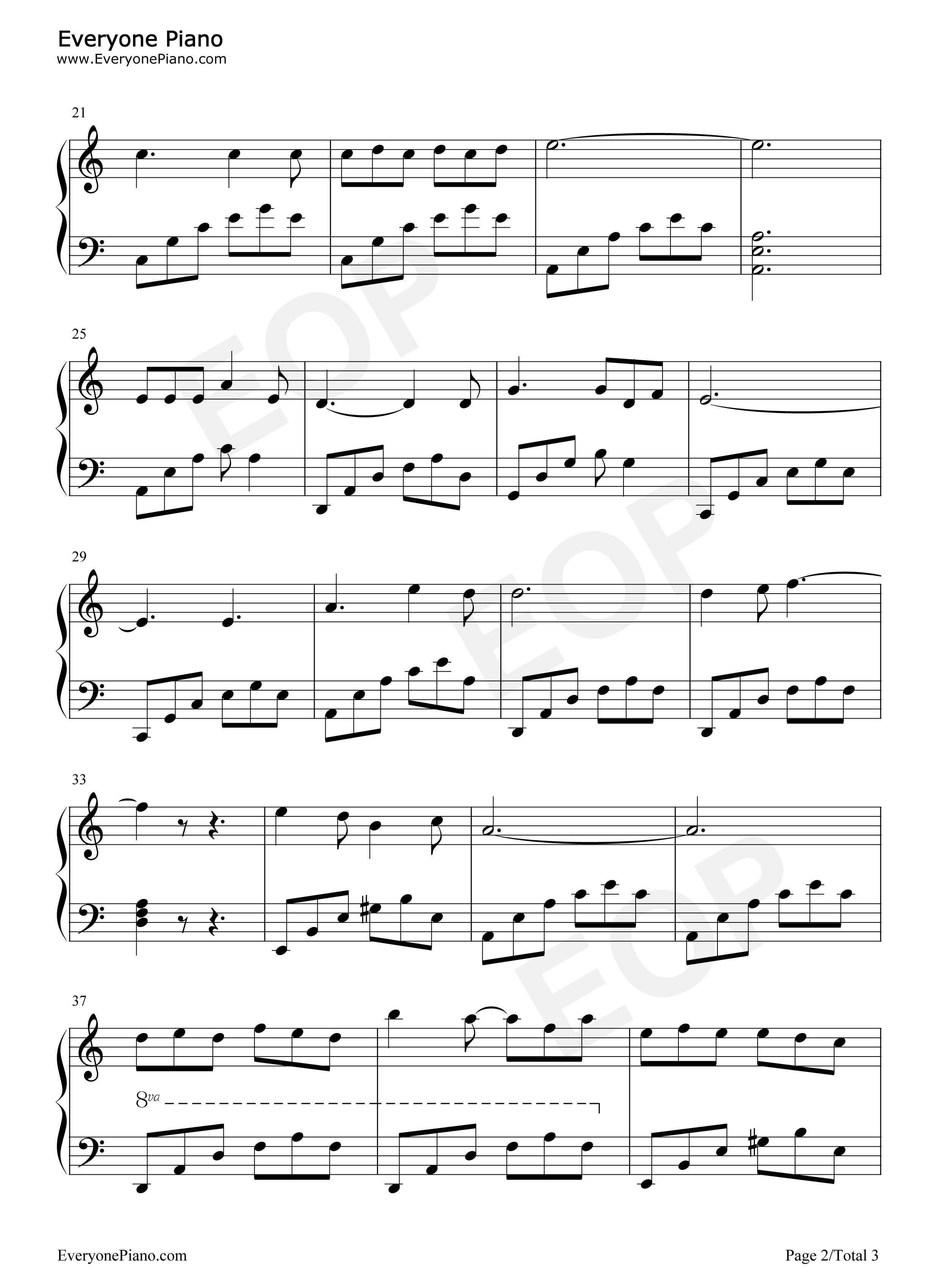 五线谱预览2-钢琴谱(五线谱,双手简谱)免费下载; 情人的关怀在线视频