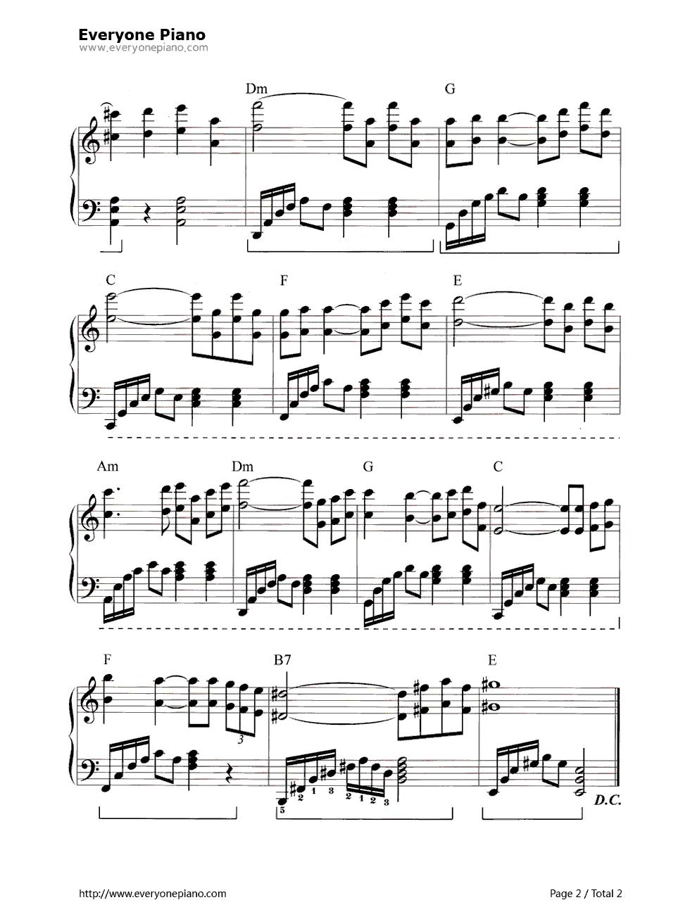 love story钢琴曲谱