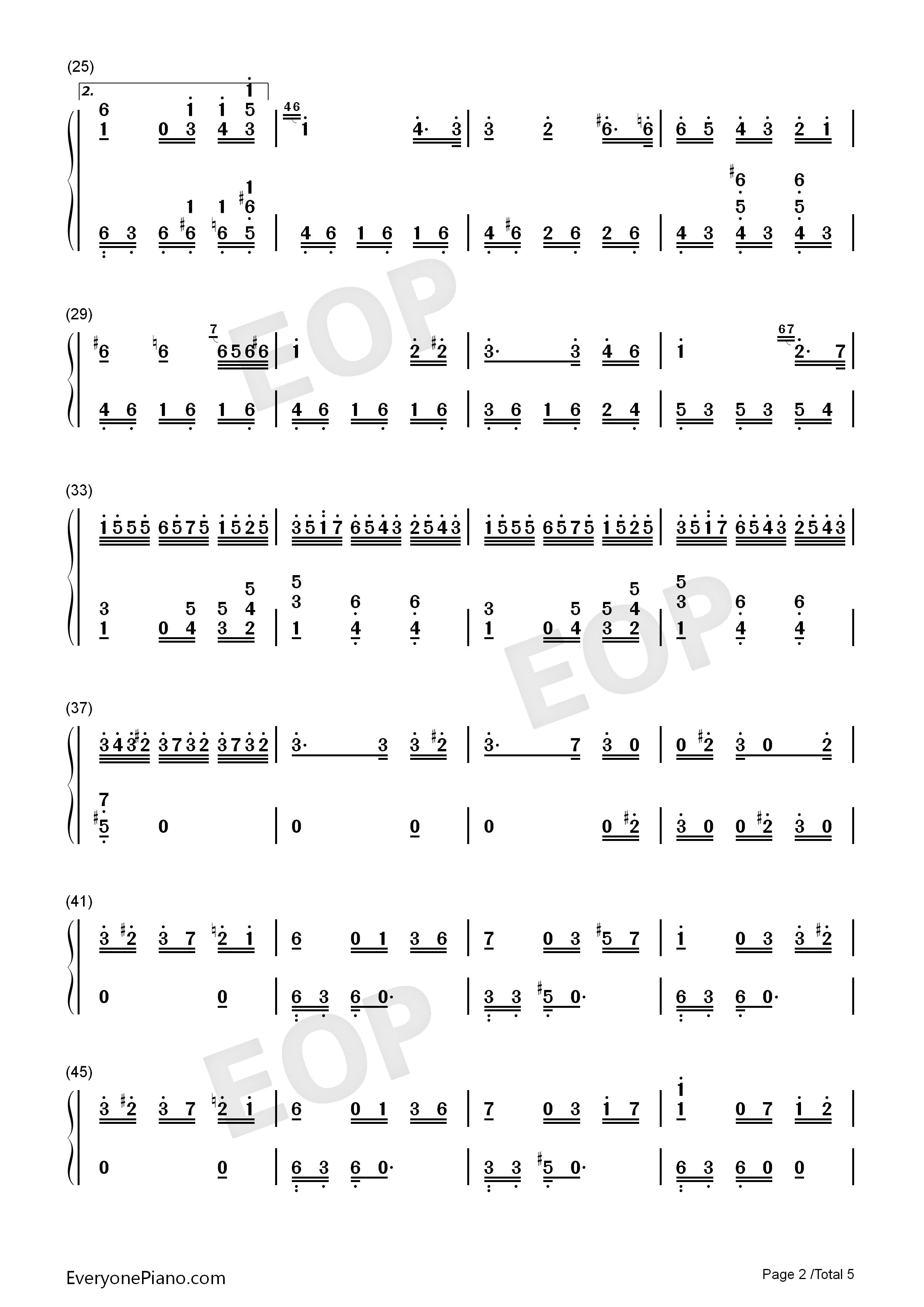 致爱丽丝钢琴曲谱