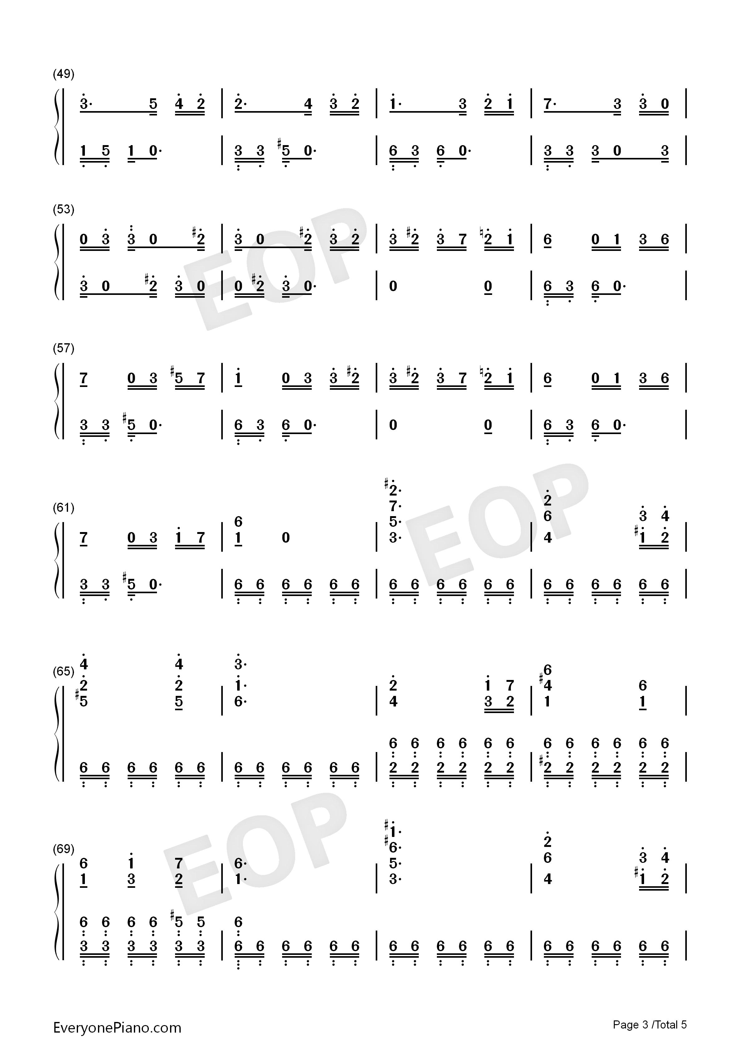 致爱丽丝钢琴五线谱