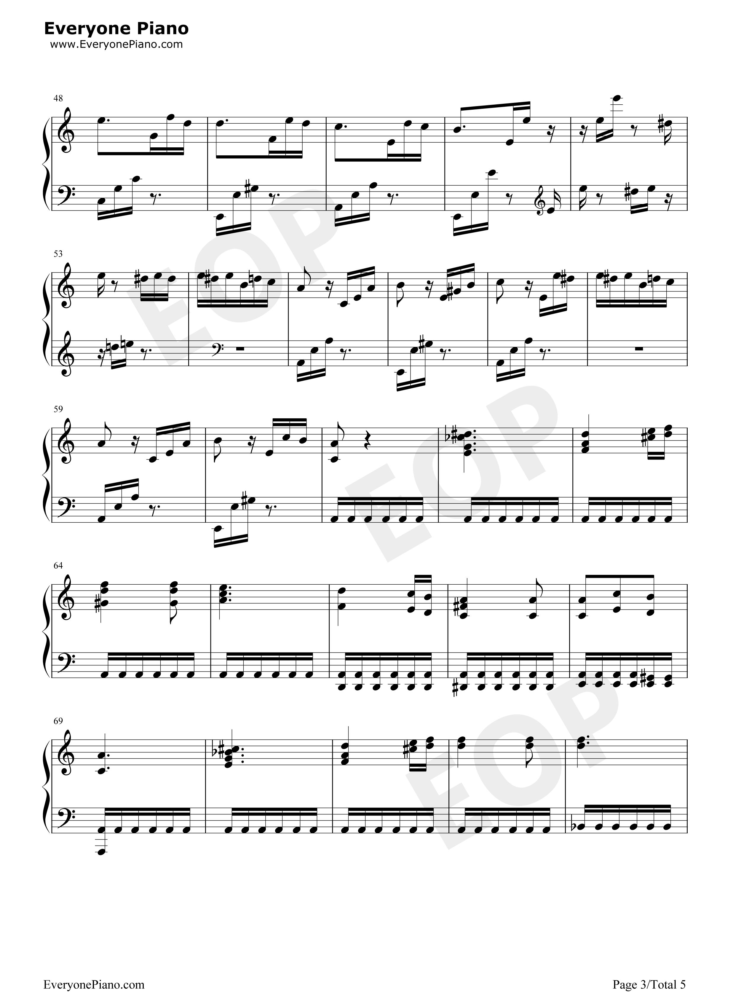 钢琴曲谱 经典 献给爱丽丝-致爱丽丝(für elise) 献给爱丽丝-致