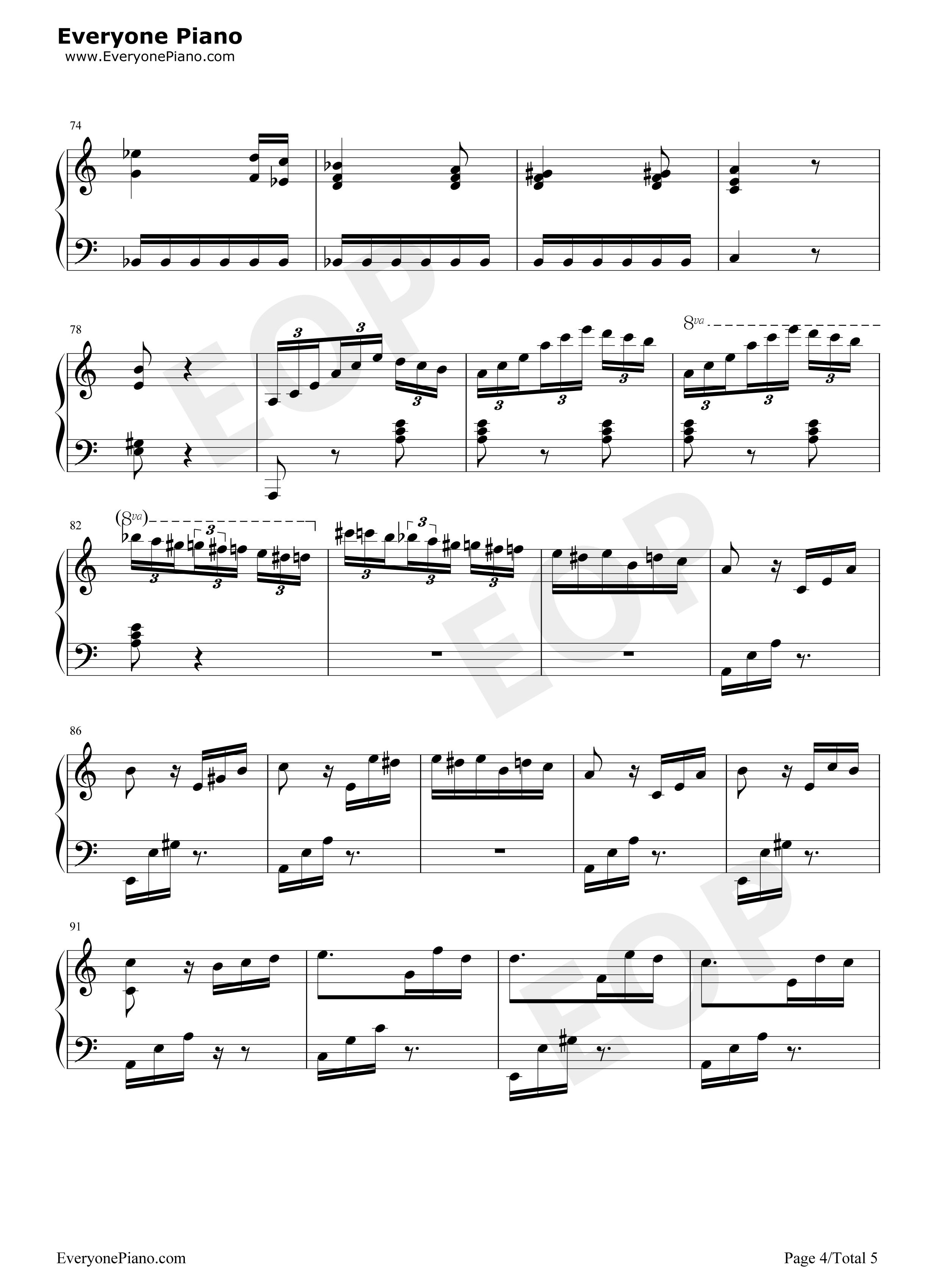 下载   我急要2个钢琴双手简谱   献给爱丽丝钢琴谱_(德)贝多