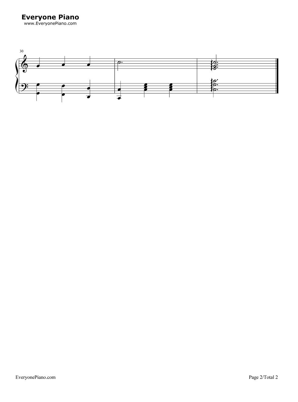 豆花之歌钢琴曲简谱-雪绒花 钢琴谱带歌词