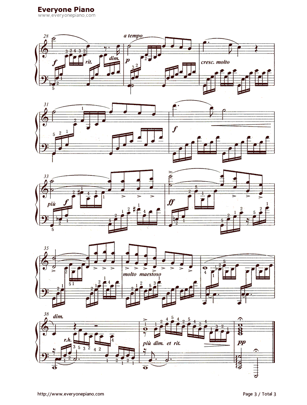 钢琴曲谱 经典 圣母颂(ave maria)简谱,五线谱对应版 圣母颂(ave