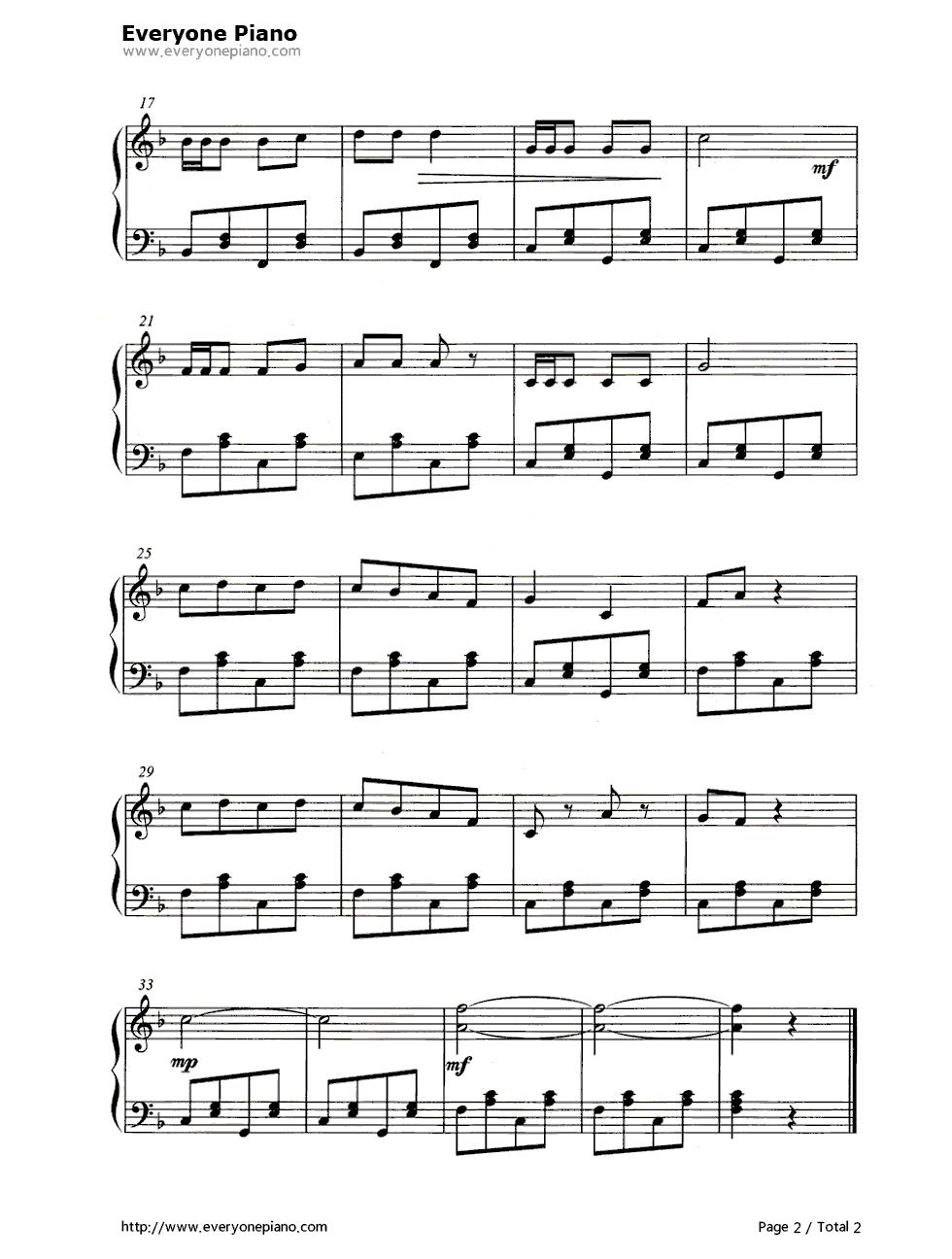 嘀哩嘀哩又名《春天在哪裏》五线谱预览2-钢琴谱档