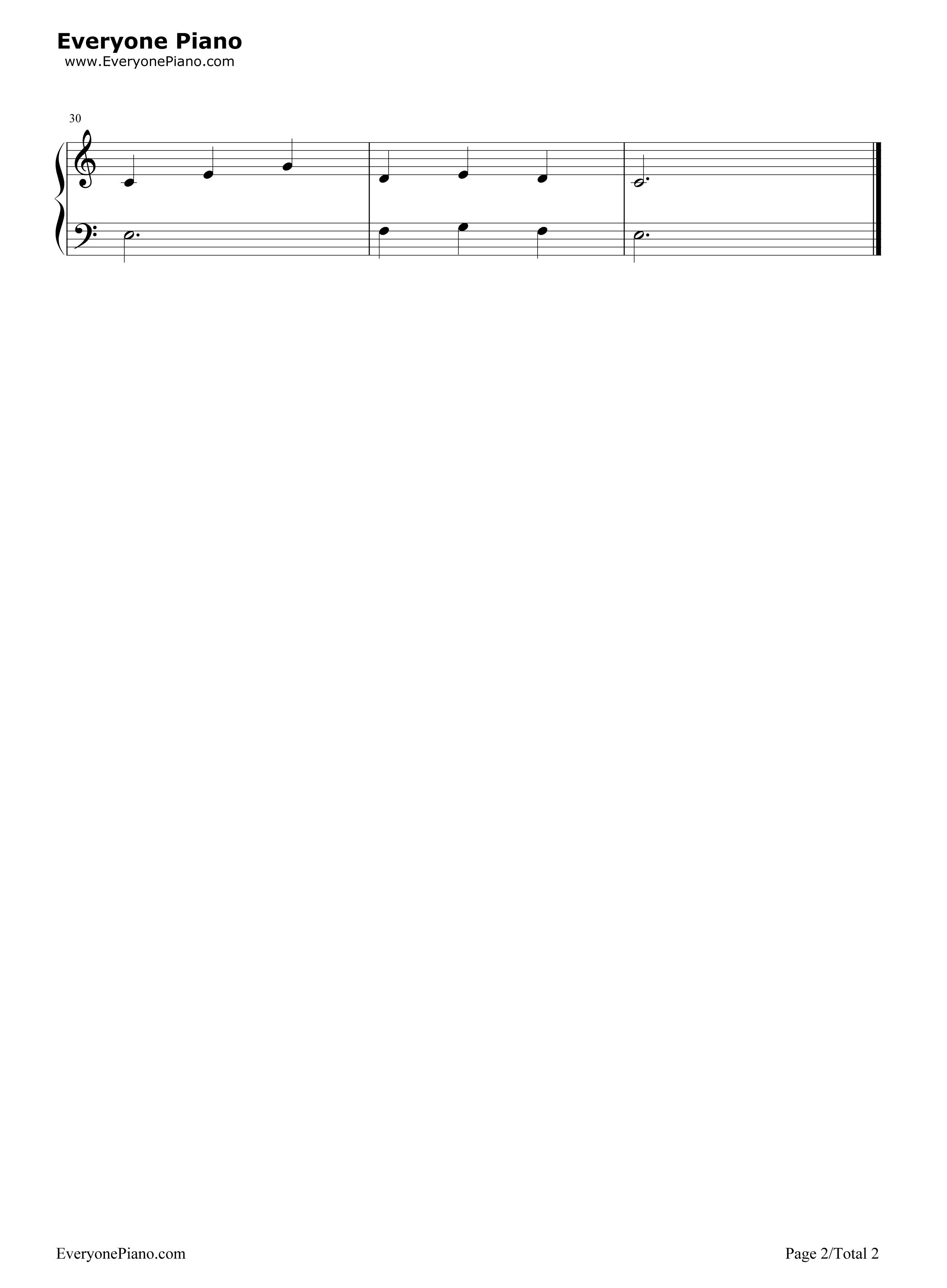 湖上天鹅五线谱预览2-钢琴谱(五线谱,双手简谱)免费