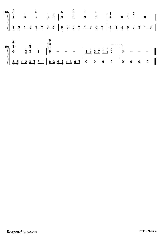 嘎达梅林-蒙古民歌双手简谱预览2-钢琴谱档(五线谱