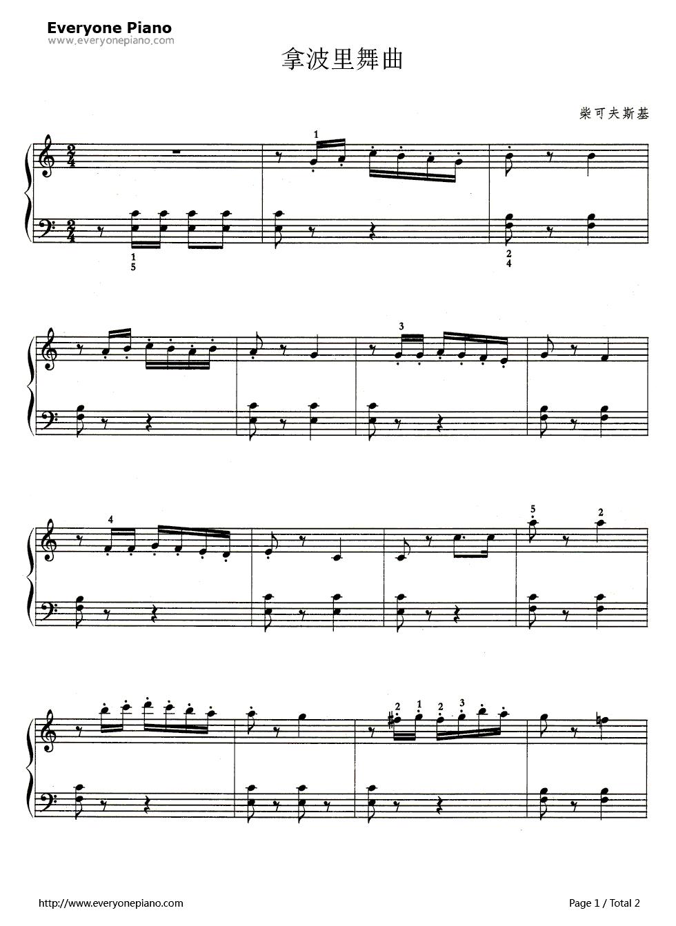 Neapolitan dance 1 midi pdf for Piano dance music 90 s